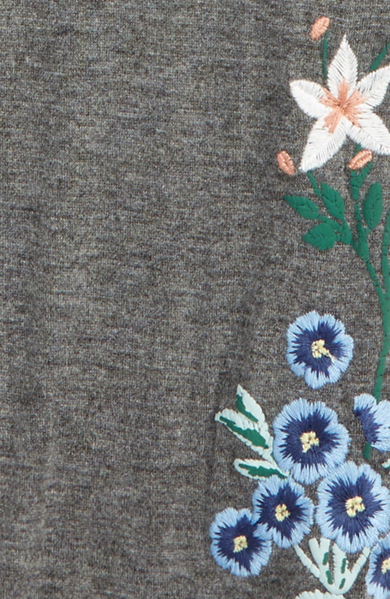 Embroidered Leggings,                             Alternate thumbnail 2, color,                             Dark Grey