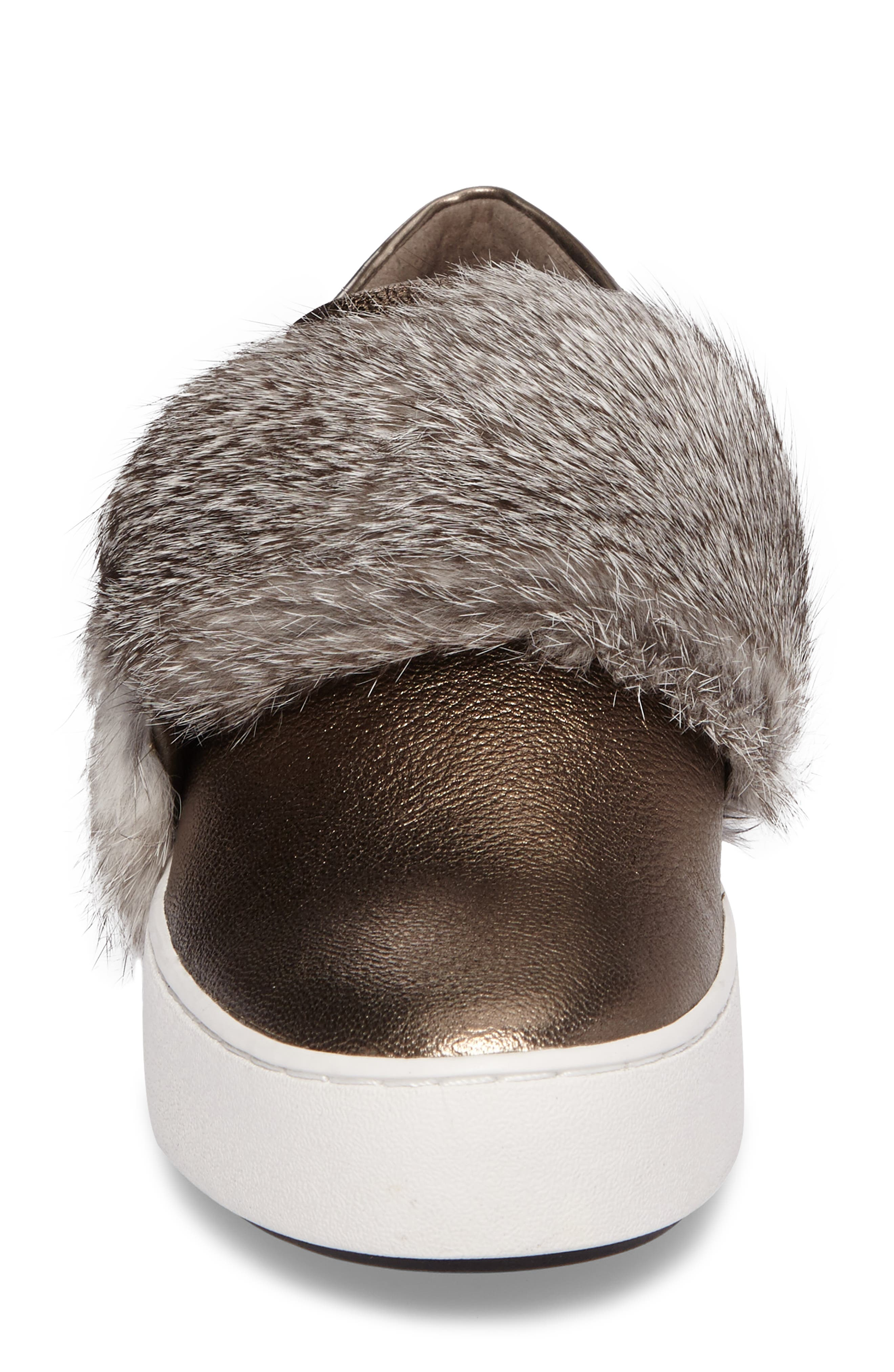 Alternate Image 4  - MICHAEL Michael Kors Maven Genuine Rabbit Fur Sneaker (Women)