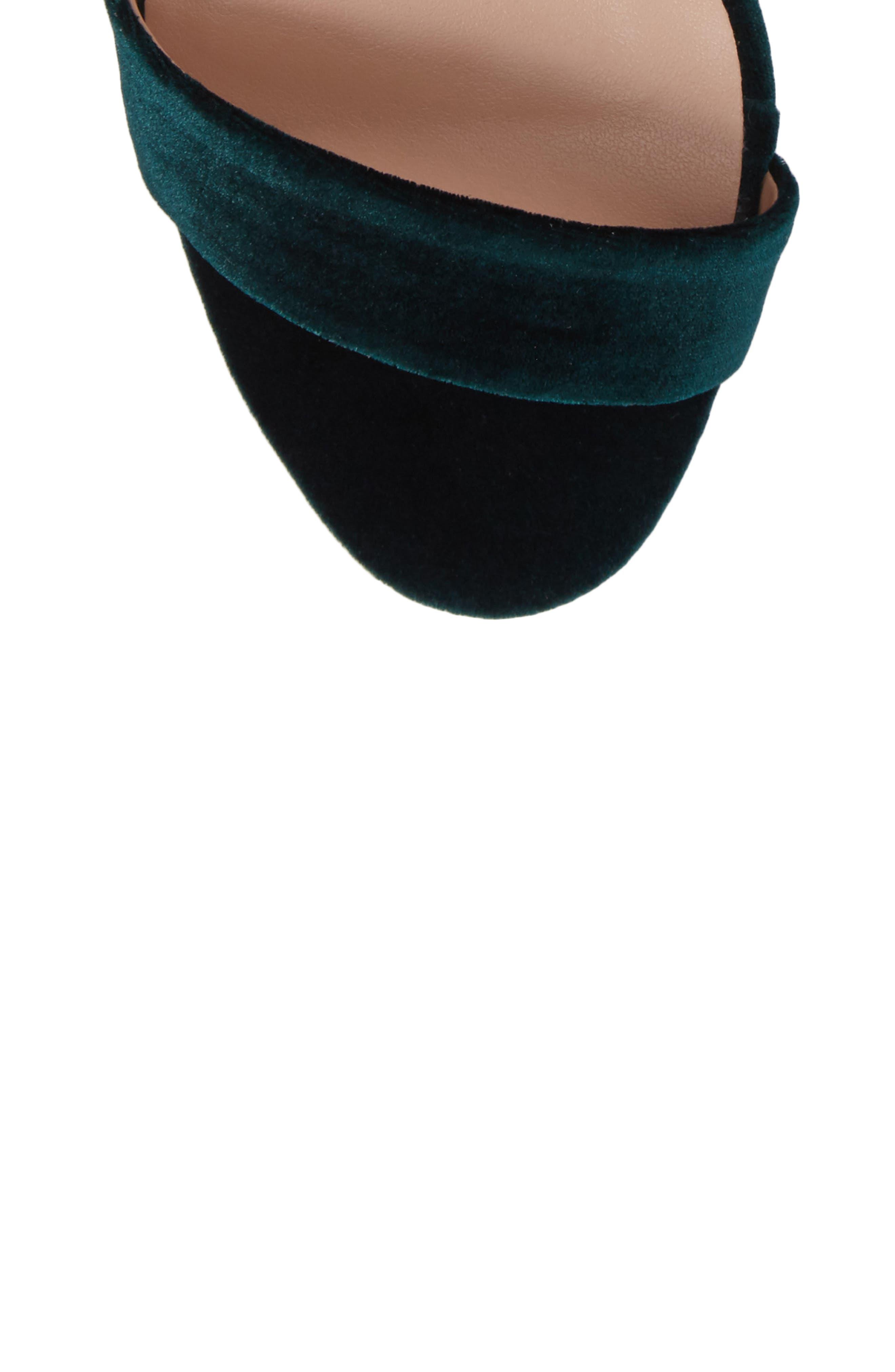 Karvan Ankle Strap Sandal,                             Alternate thumbnail 5, color,                             Forest Velvet