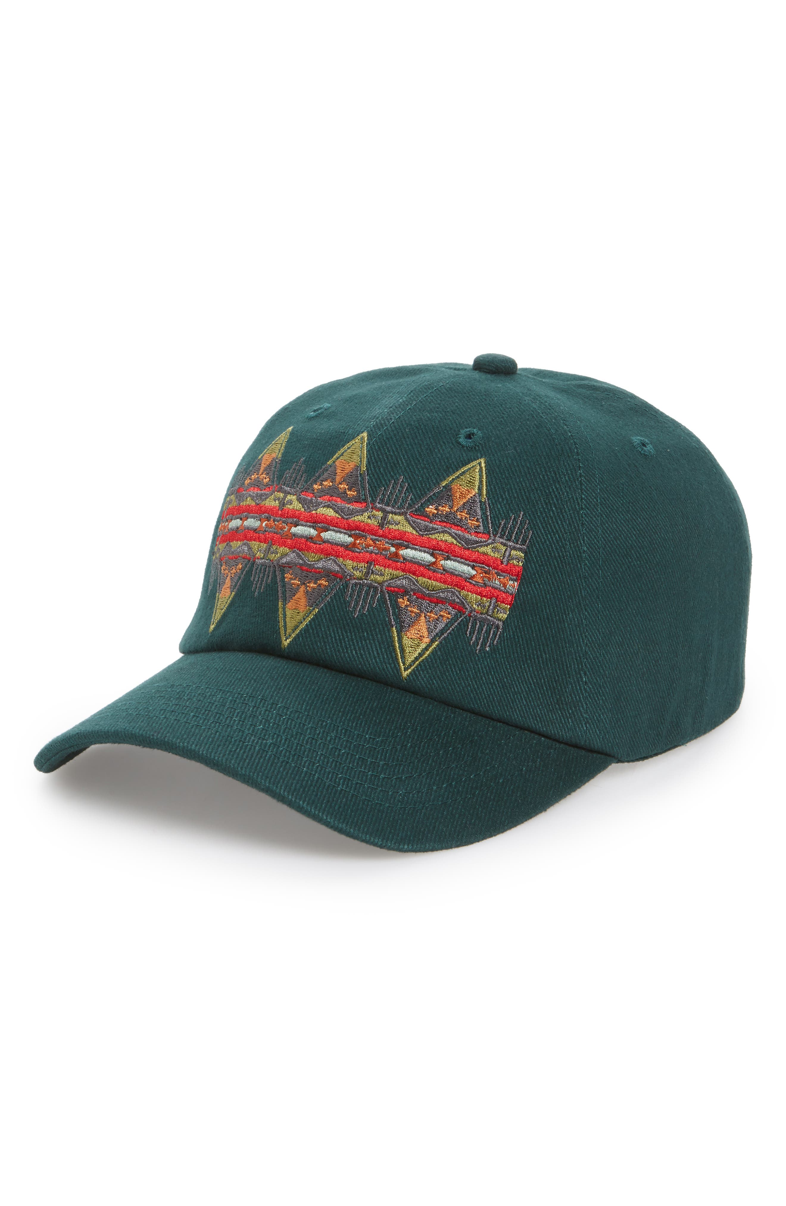 Embroidered Ball Cap,                         Main,                         color, Journey East Green