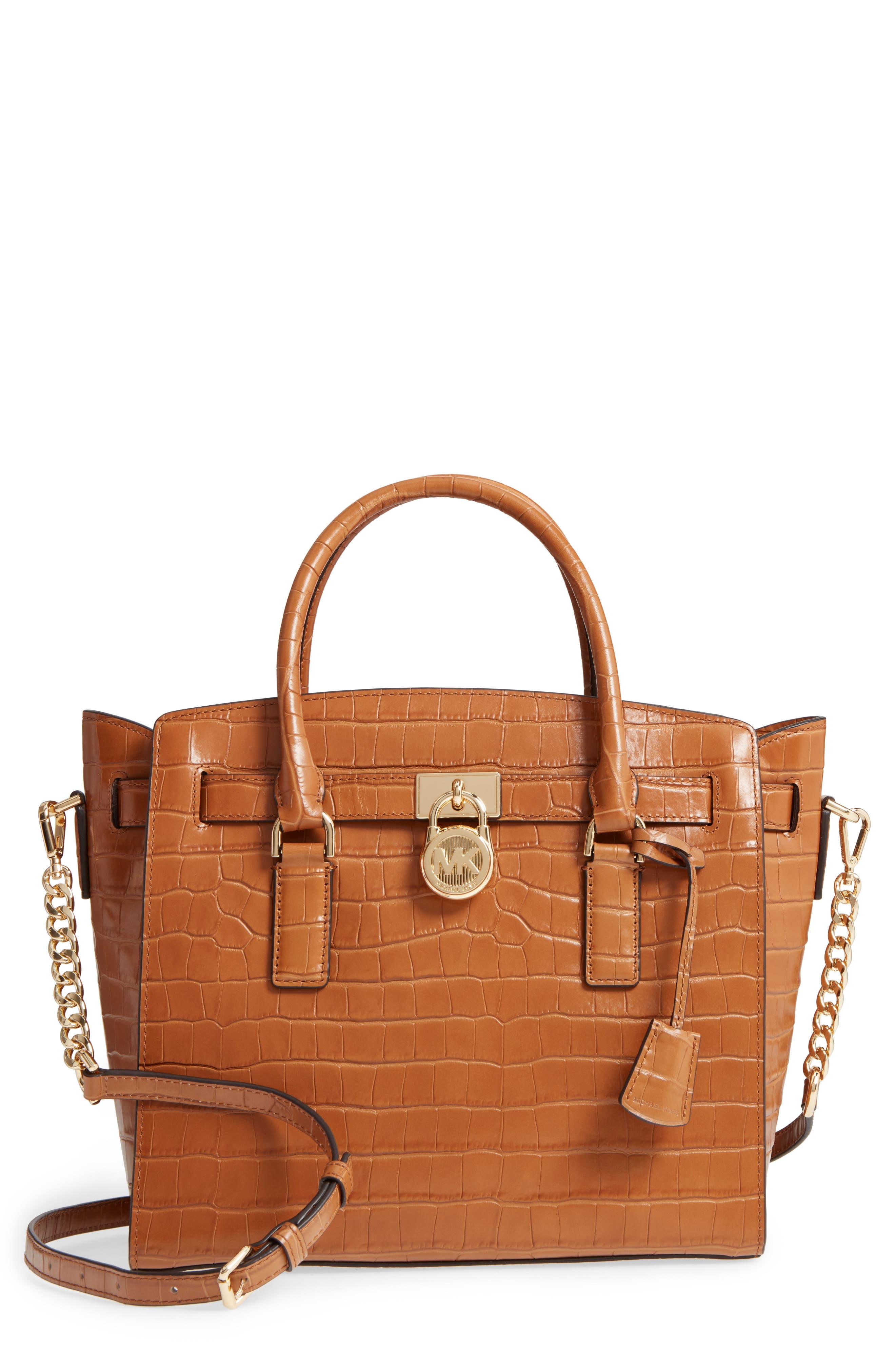 Main Image - MICHAEL Michael Kors Large Hamilton Leather Satchel