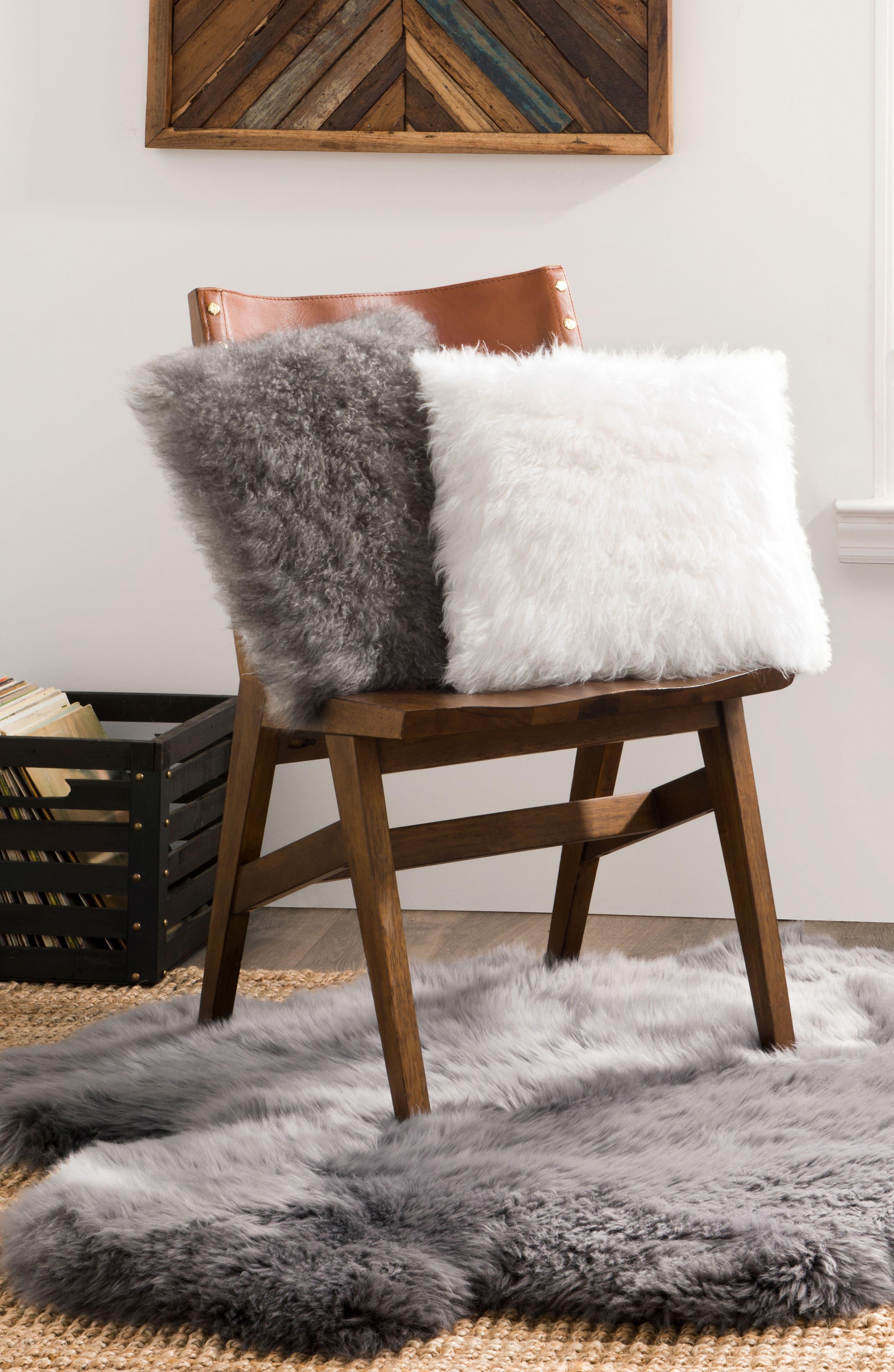 Cashmere Pillow,                             Alternate thumbnail 2, color,                             White