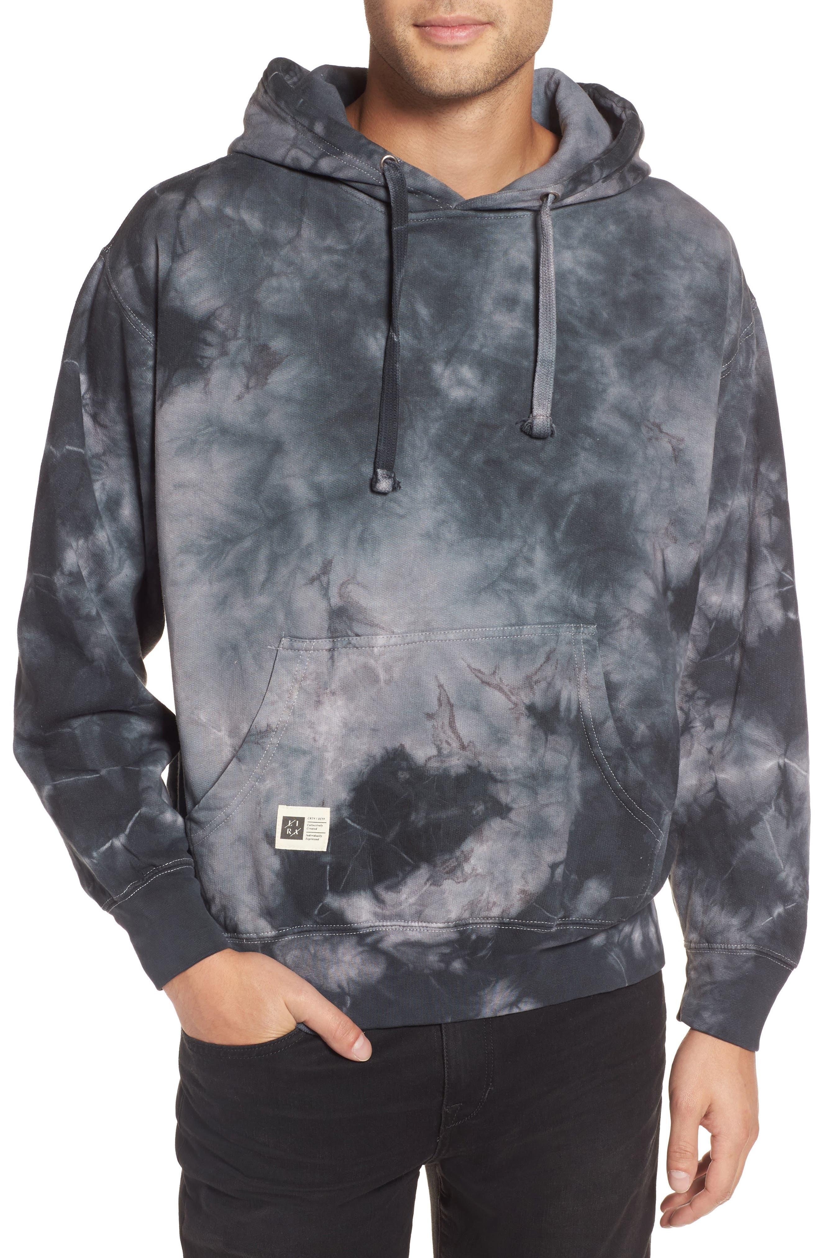 Levy Fleece Hoodie,                         Main,                         color, Grey
