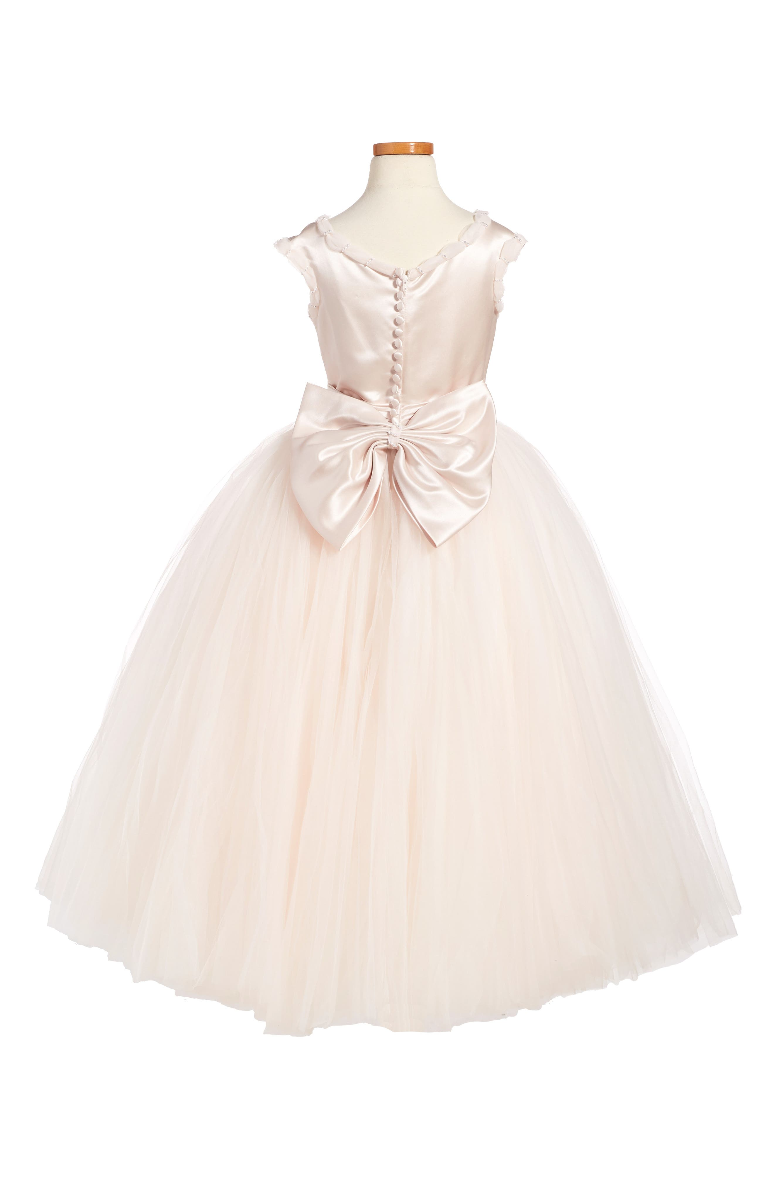 Alternate Image 2  - Joan Calabrese for Mon Cheri Tulle Dress (Little Girls & Big Girls)