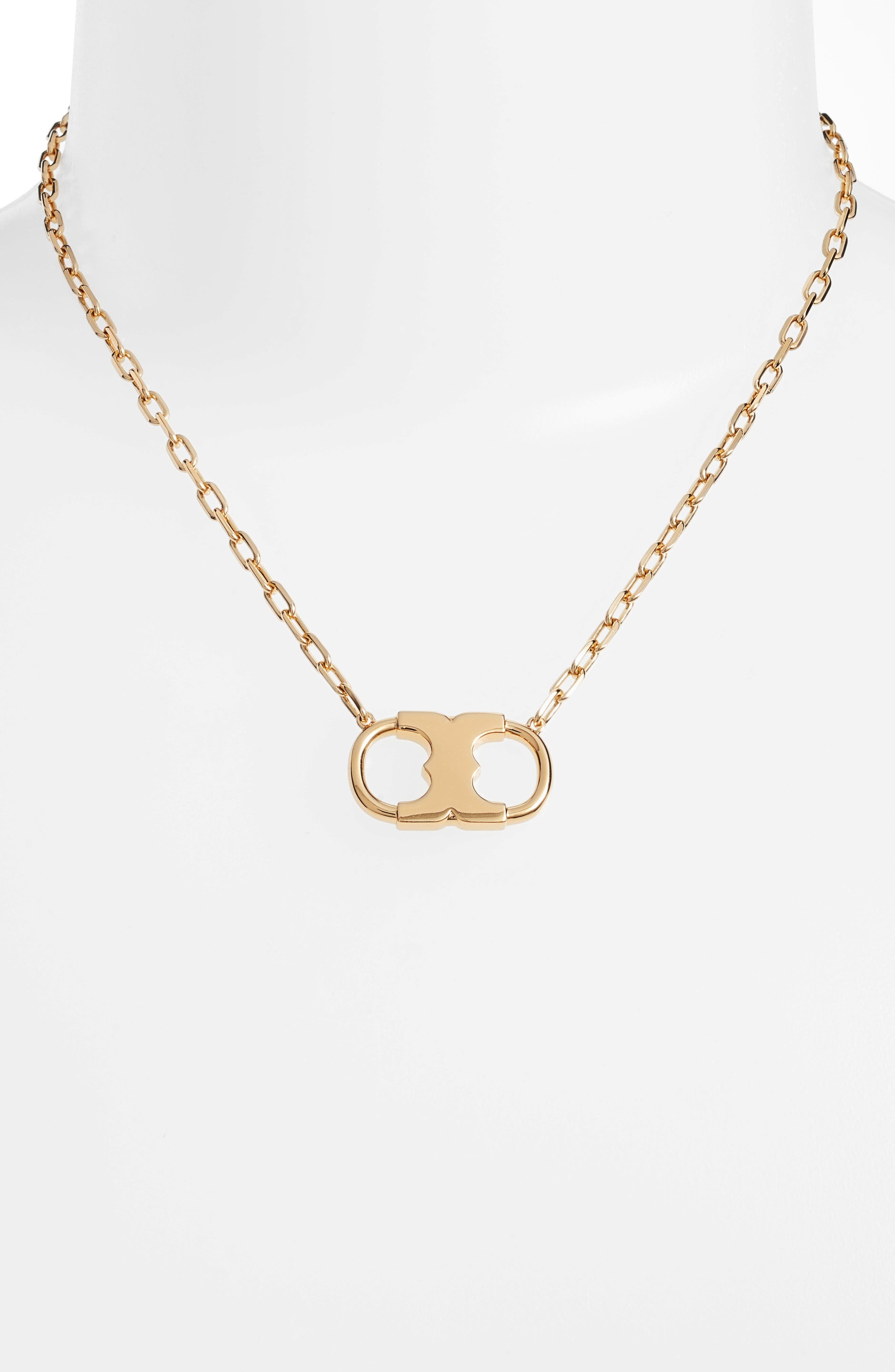 Gemini Link Pendant Necklace,                             Alternate thumbnail 2, color,                             Tory Gold