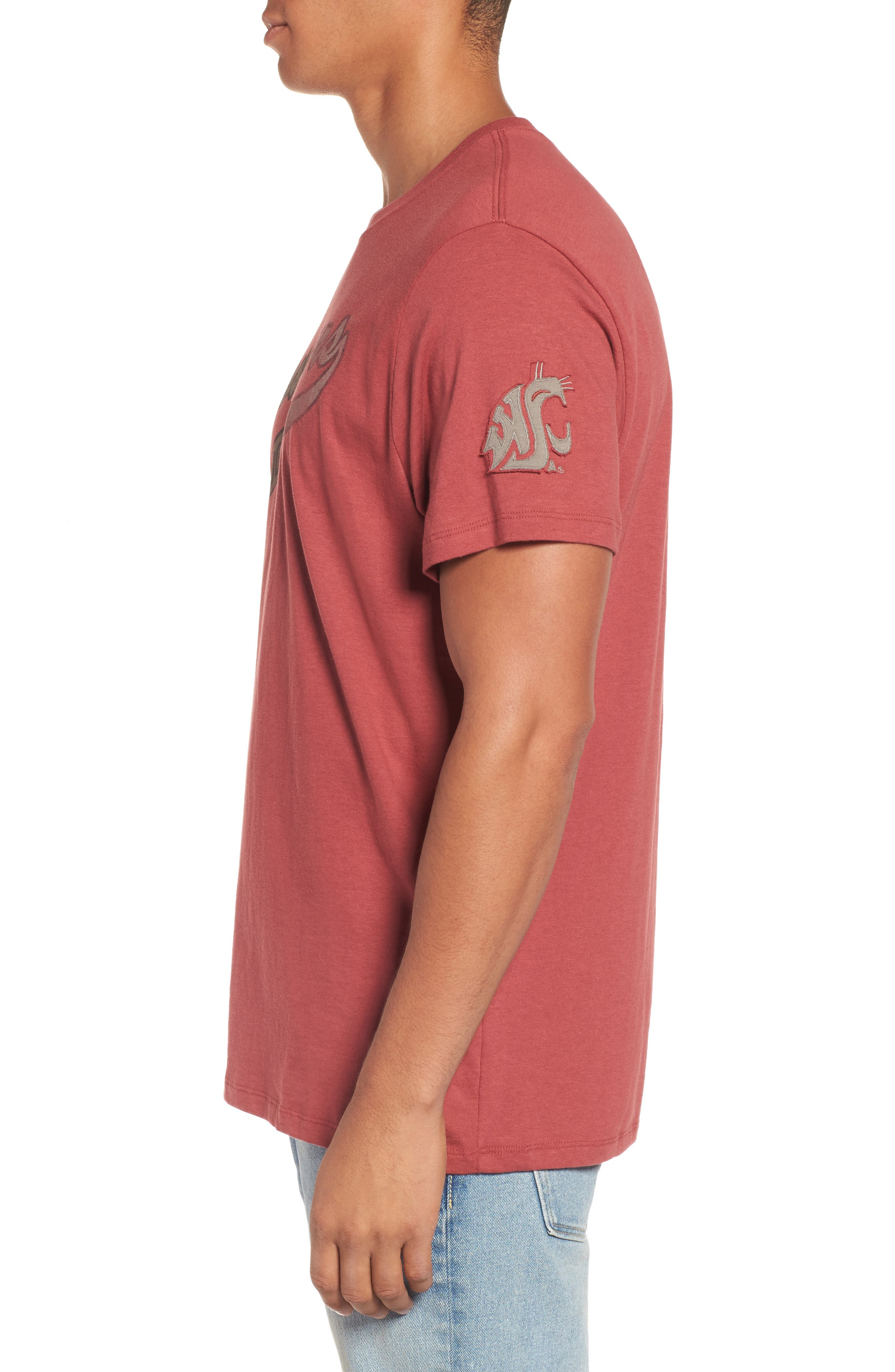 Washington State University Cougars Borderland T-Shirt,                             Alternate thumbnail 3, color,                             Red