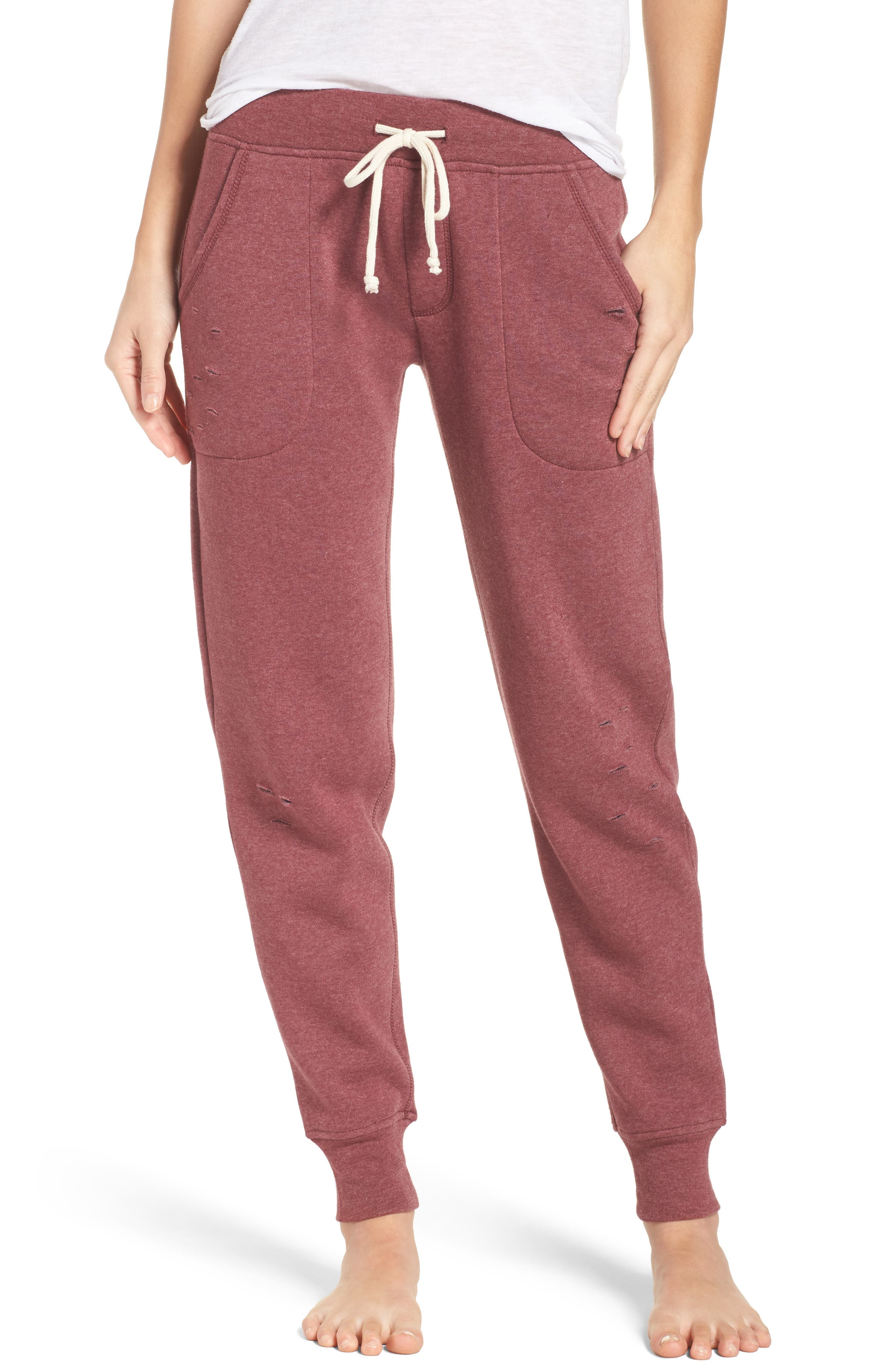 Main Image - Alternative Distressed Eco Fleece Jogger Pants
