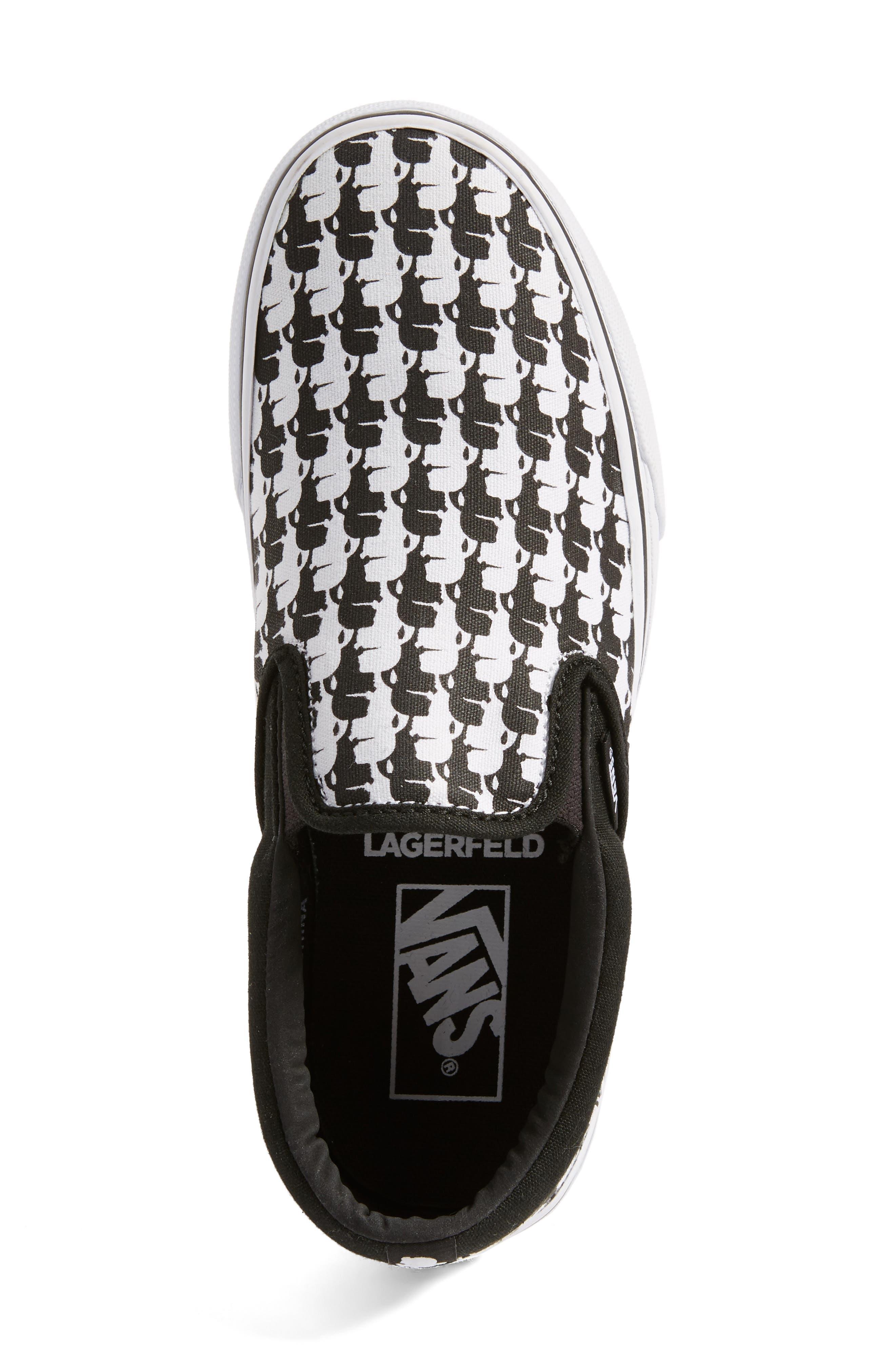 Alternate Image 5  - Vans x KARL LAGERFELD Houndstooth Slip-On Sneaker (Women)