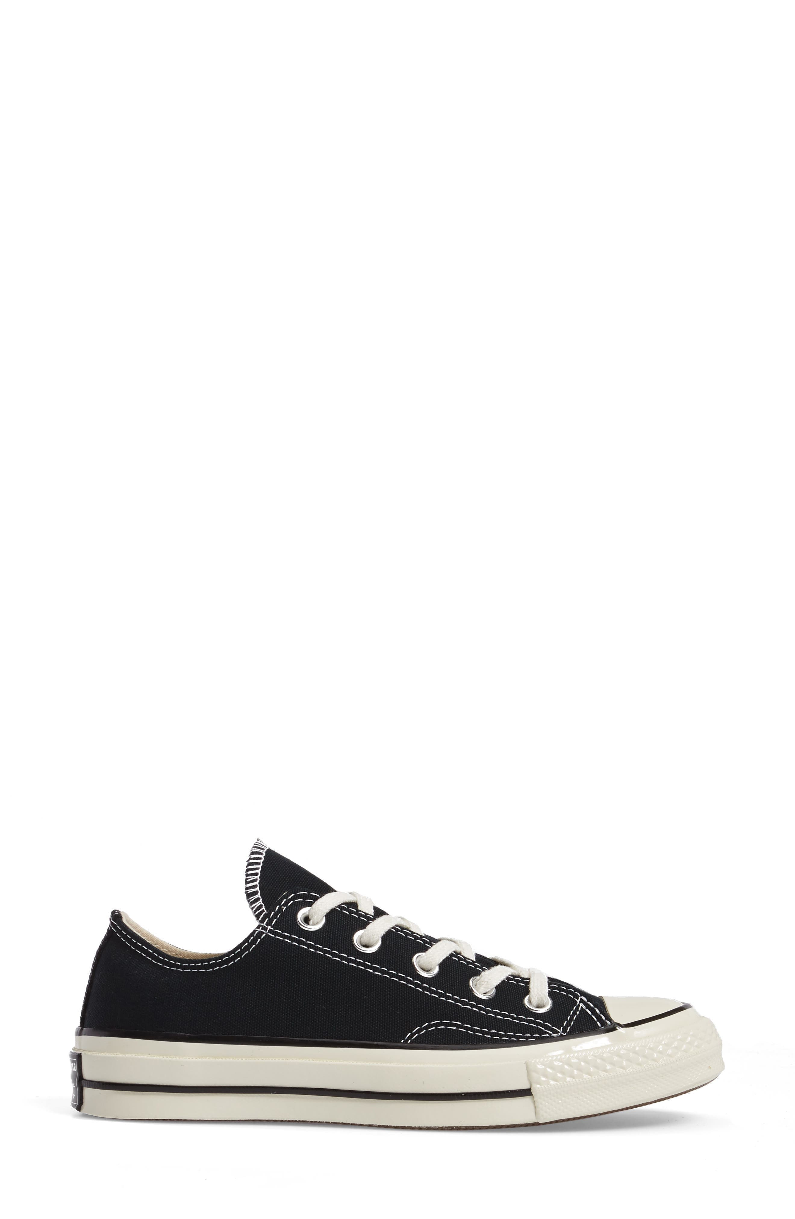 Chuck Taylor<sup>®</sup> All Star<sup>®</sup> Ox Low Top Sneaker,                             Alternate thumbnail 3, color,                             Black