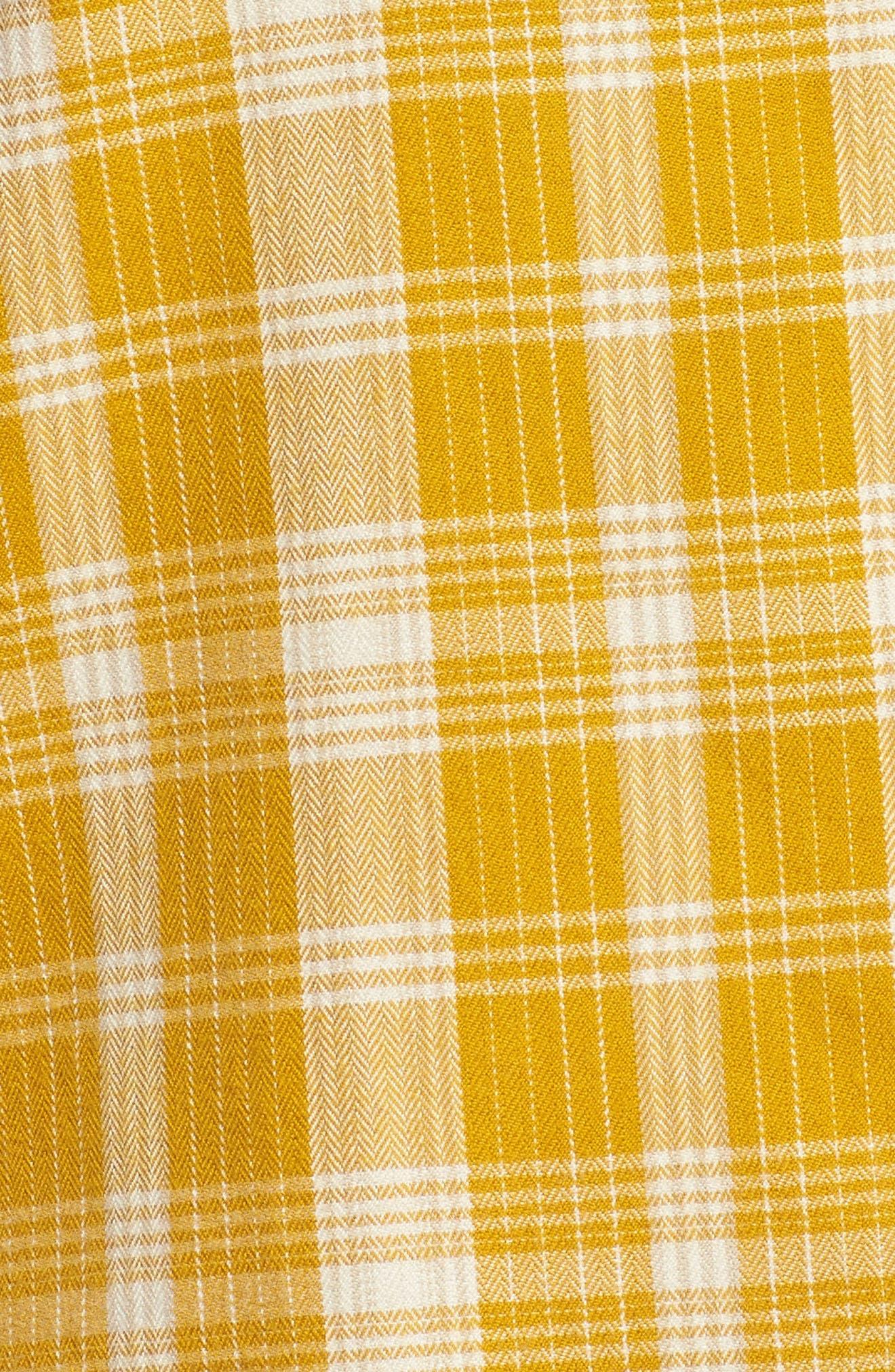 Boyfriend Shirt,                             Alternate thumbnail 6, color,                             Arrowwood Yellow Plaid