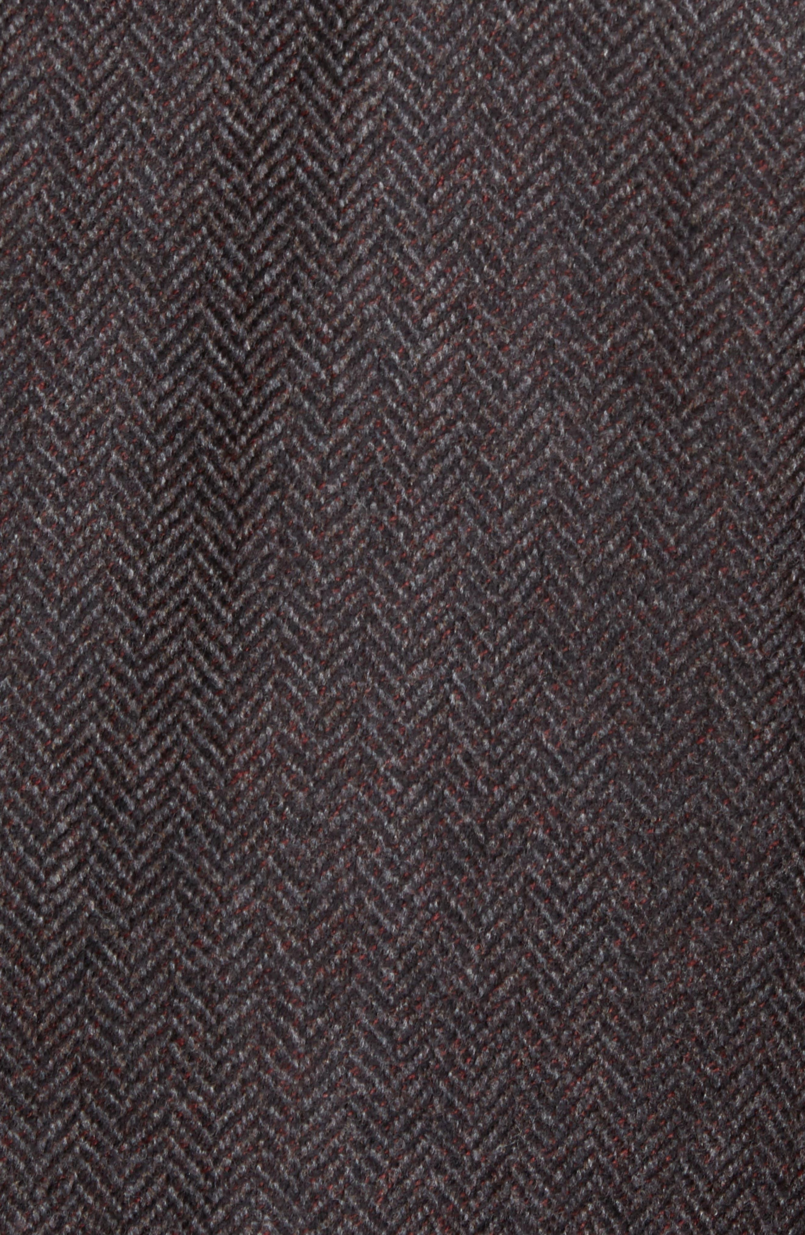 Ritchie Hybrid Classic Fit Wool & Cashmere Herringbone Sport Coat,                             Alternate thumbnail 5, color,                             Grey