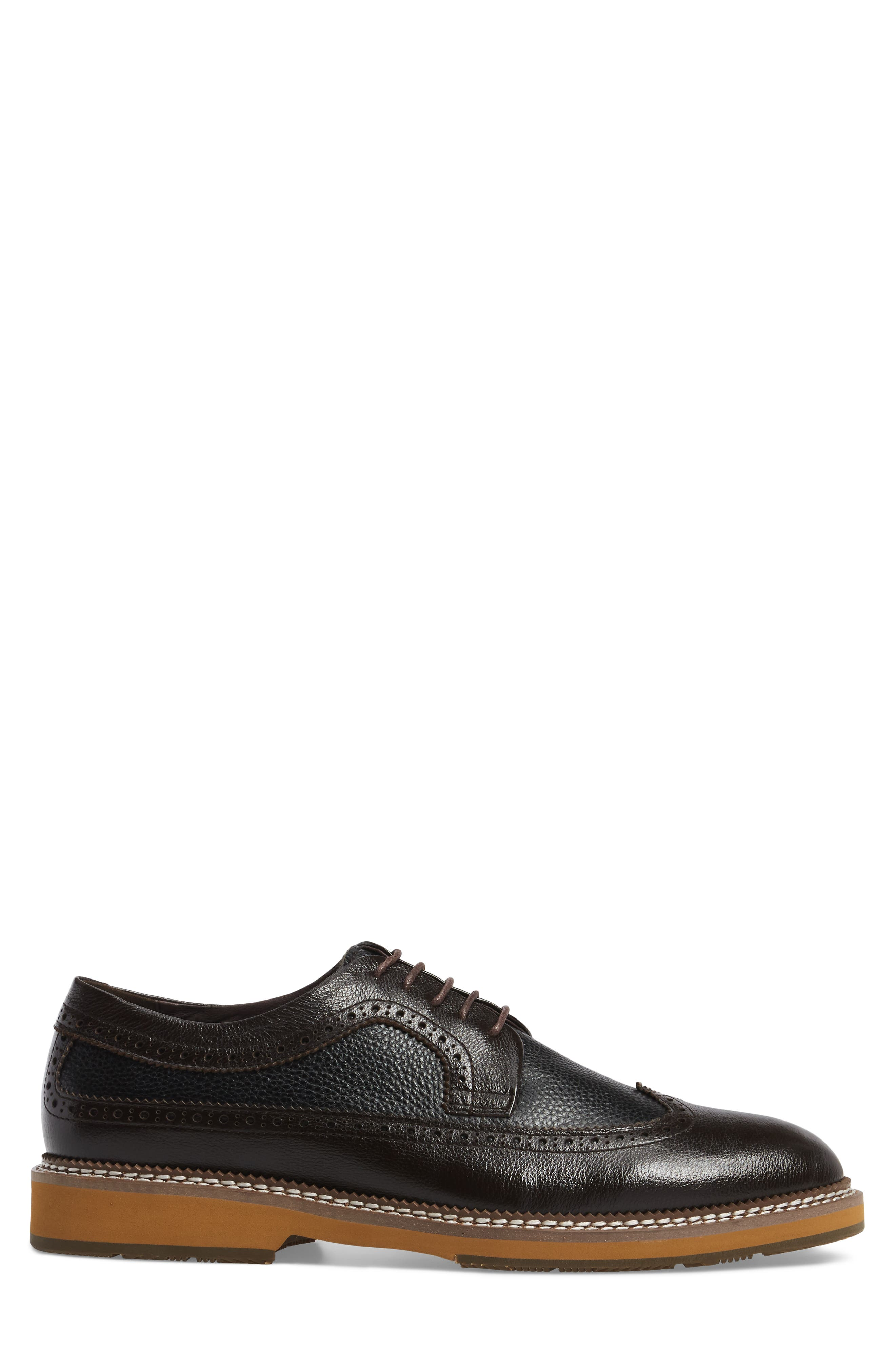 Fouquet Wingtip Derby,                             Alternate thumbnail 3, color,                             Brown Leather
