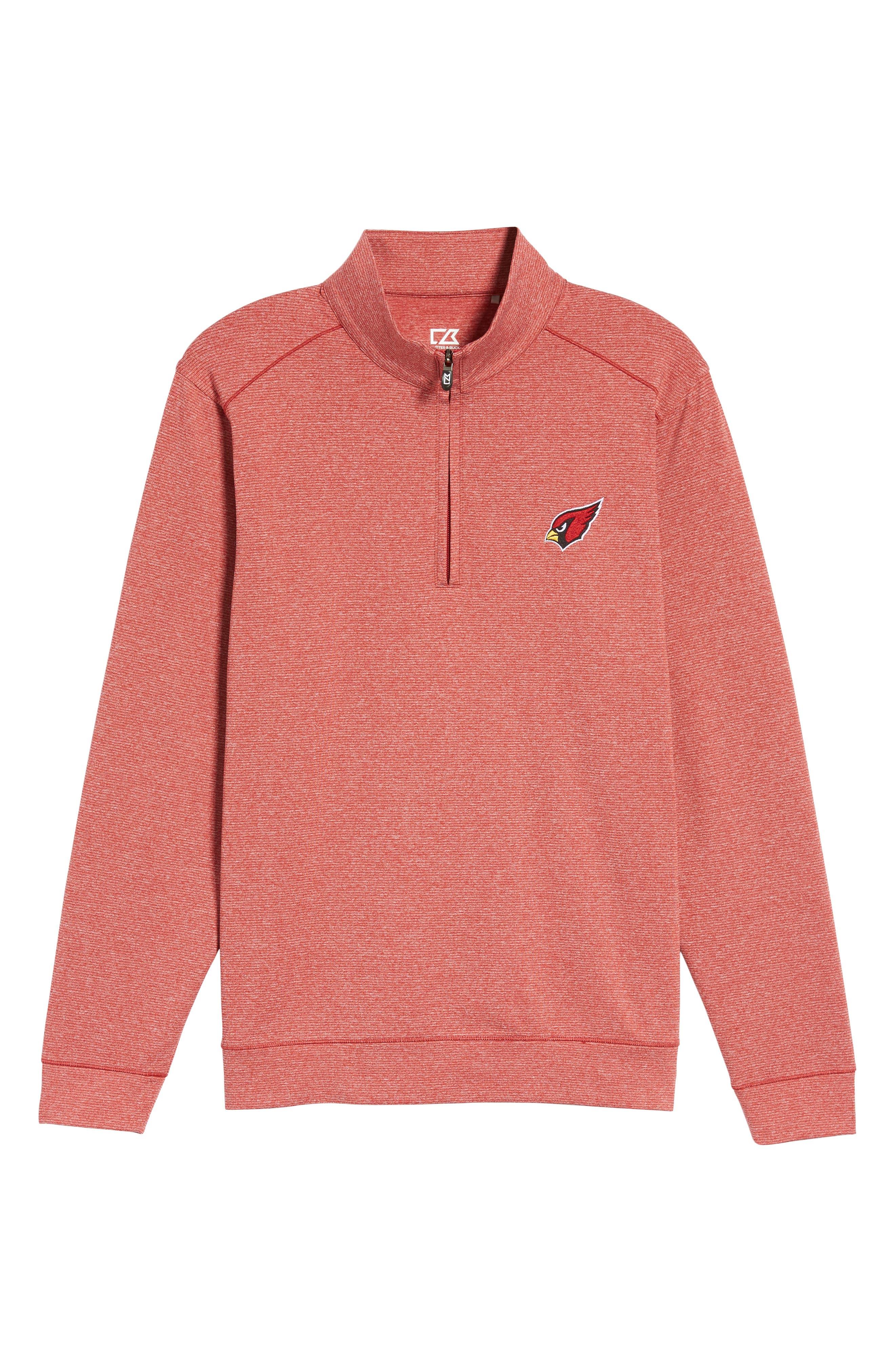 Shoreline - Arizona Cardinals Half Zip Pullover,                             Alternate thumbnail 6, color,                             Cardinal Red Heather