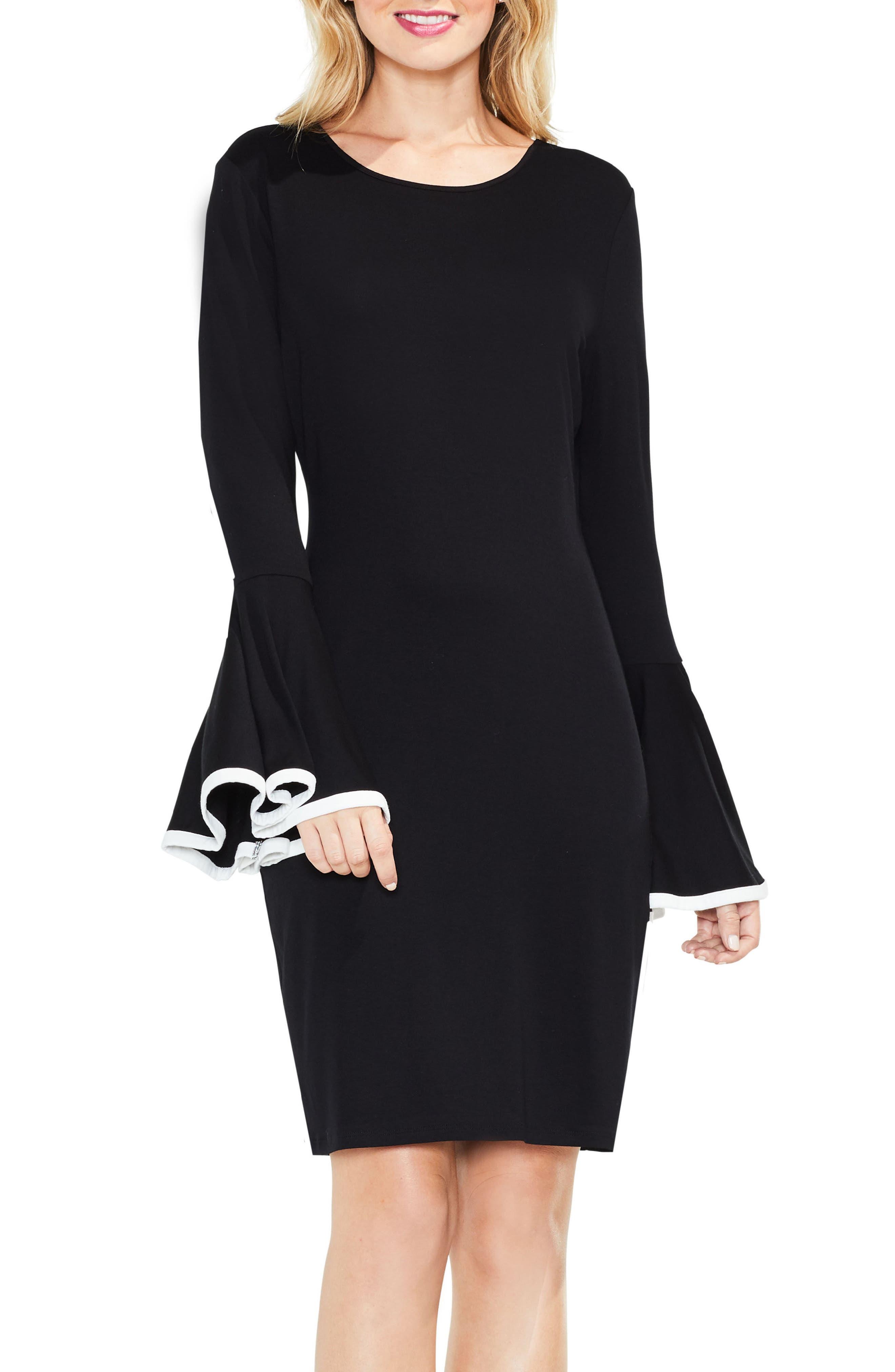 Circle Cuff Dress,                         Main,                         color, Rich Black