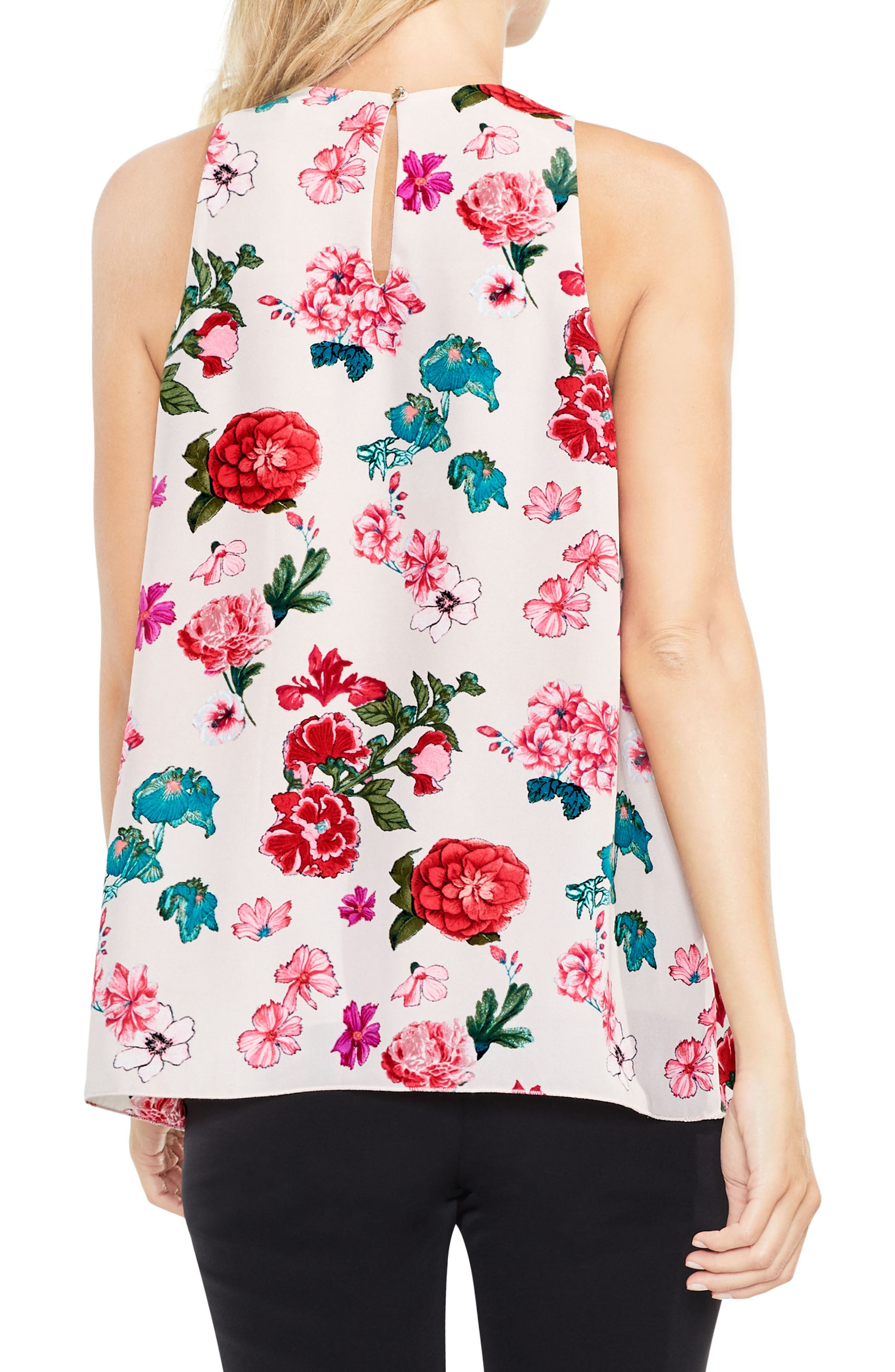 Alternate Image 2  - Vince Camuto Floral Heirlooms Sleeveless Blouse