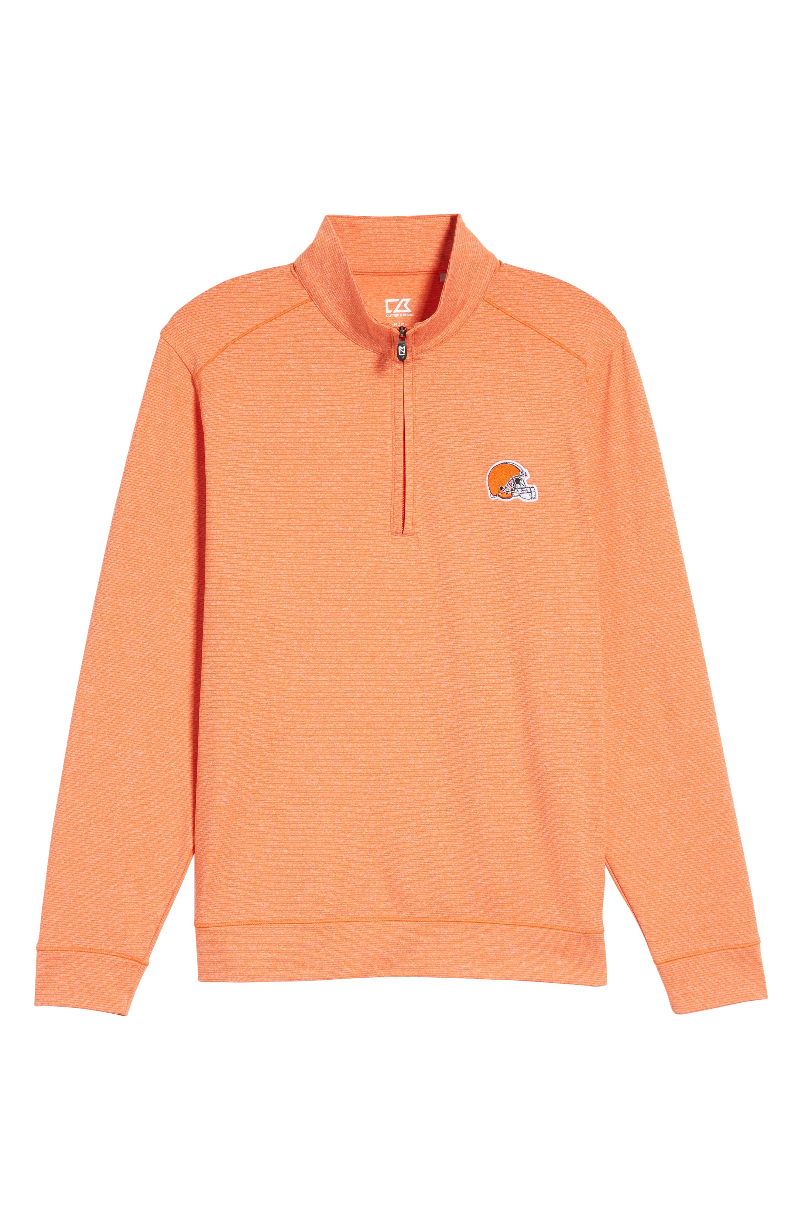 Shoreline - Cleveland Browns Half Zip Pullover,                             Alternate thumbnail 5, color,                             College Orange Heather