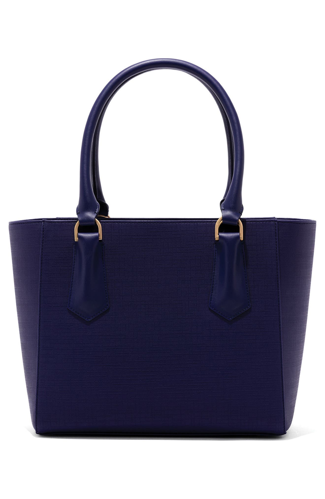 Signature Midi Coated Canvas Tote,                             Alternate thumbnail 3, color,                             Dagne Blue