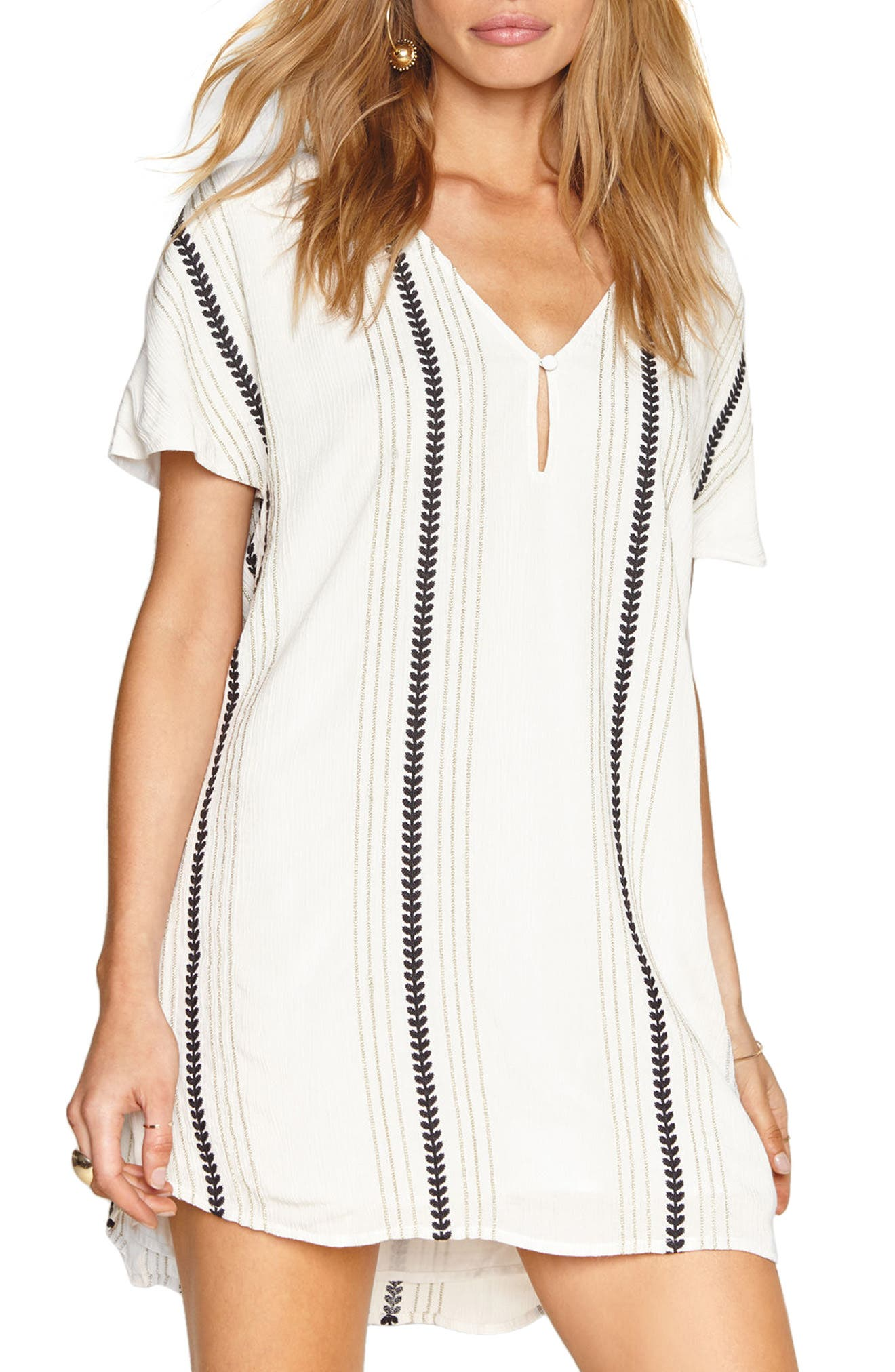 Hampton Stripe Shift Dress,                         Main,                         color, Casa Blanca