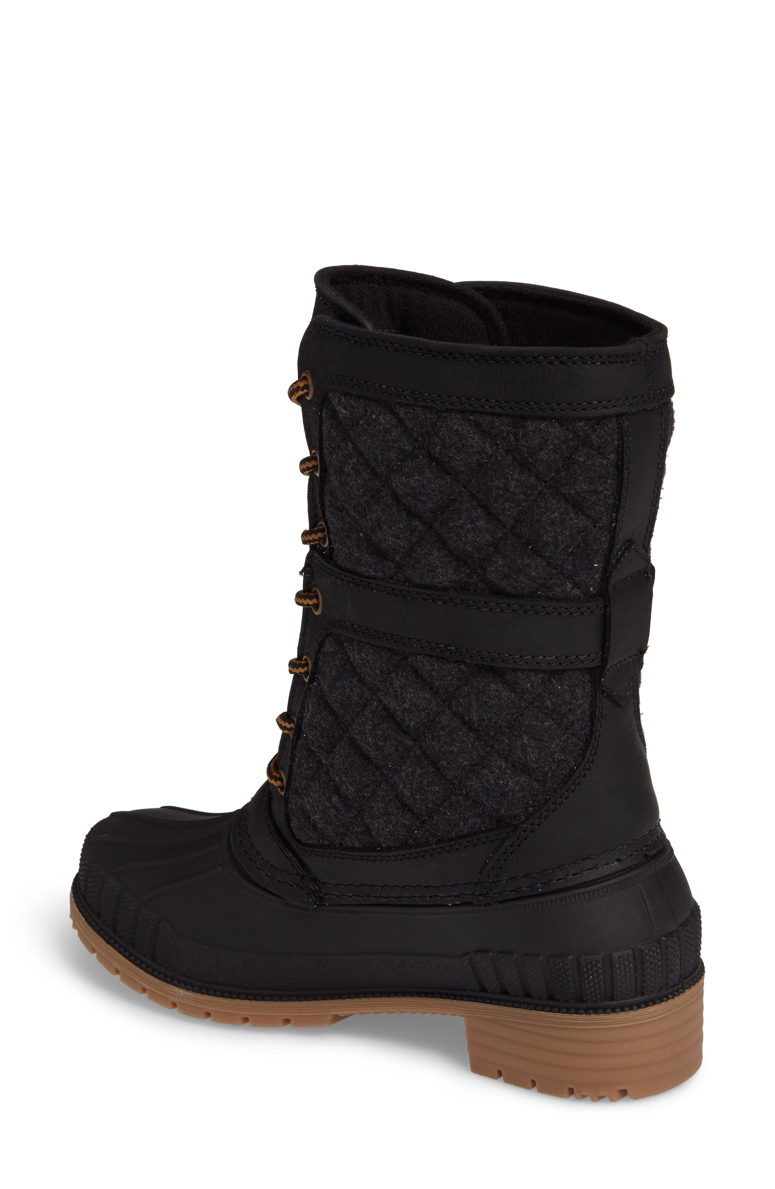 Sienna Boot,                             Alternate thumbnail 2, color,                             Black Fabric