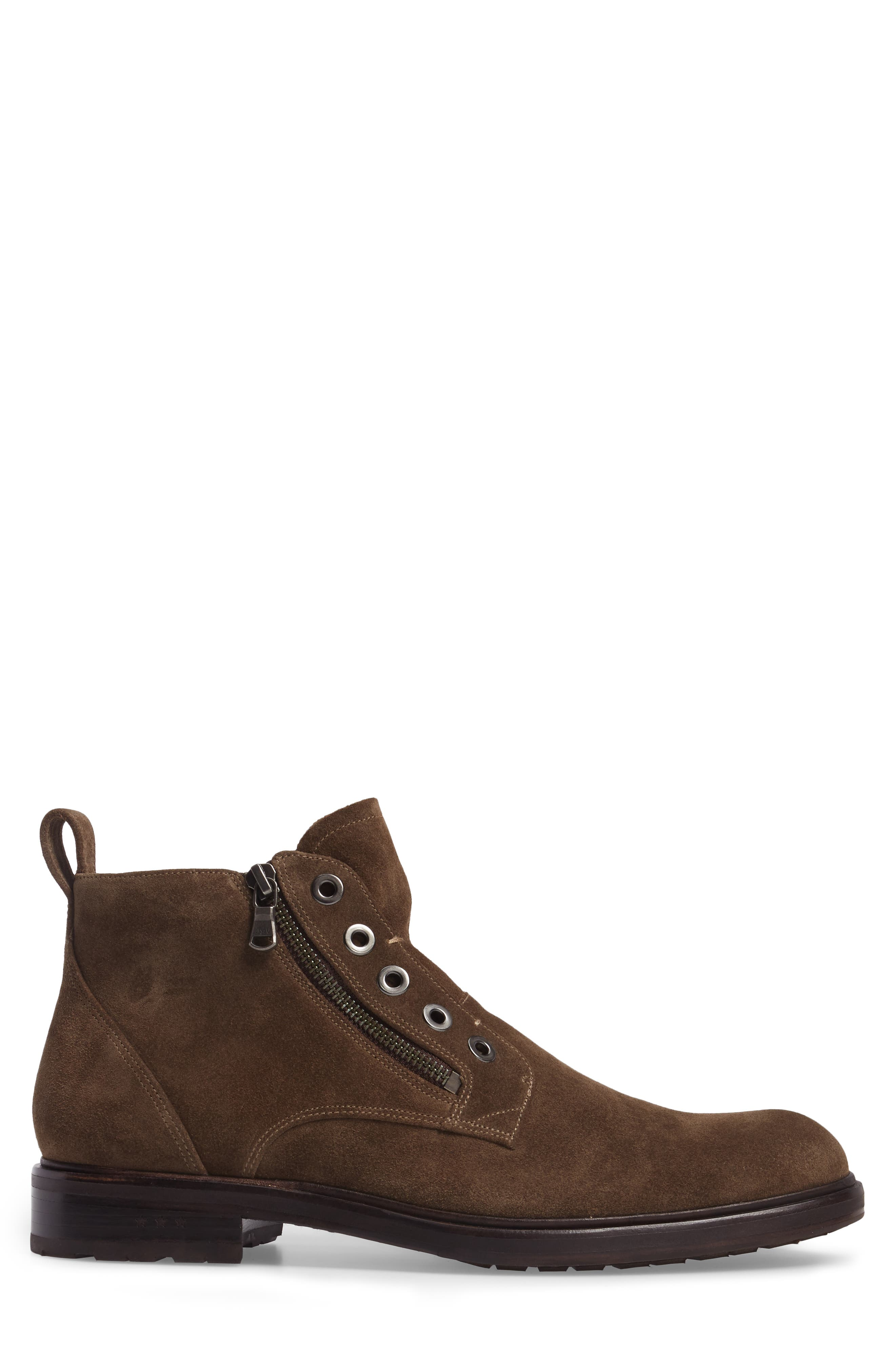 John Varvatos Star USA Waverley Zip Boot,                             Alternate thumbnail 3, color,                             Brown