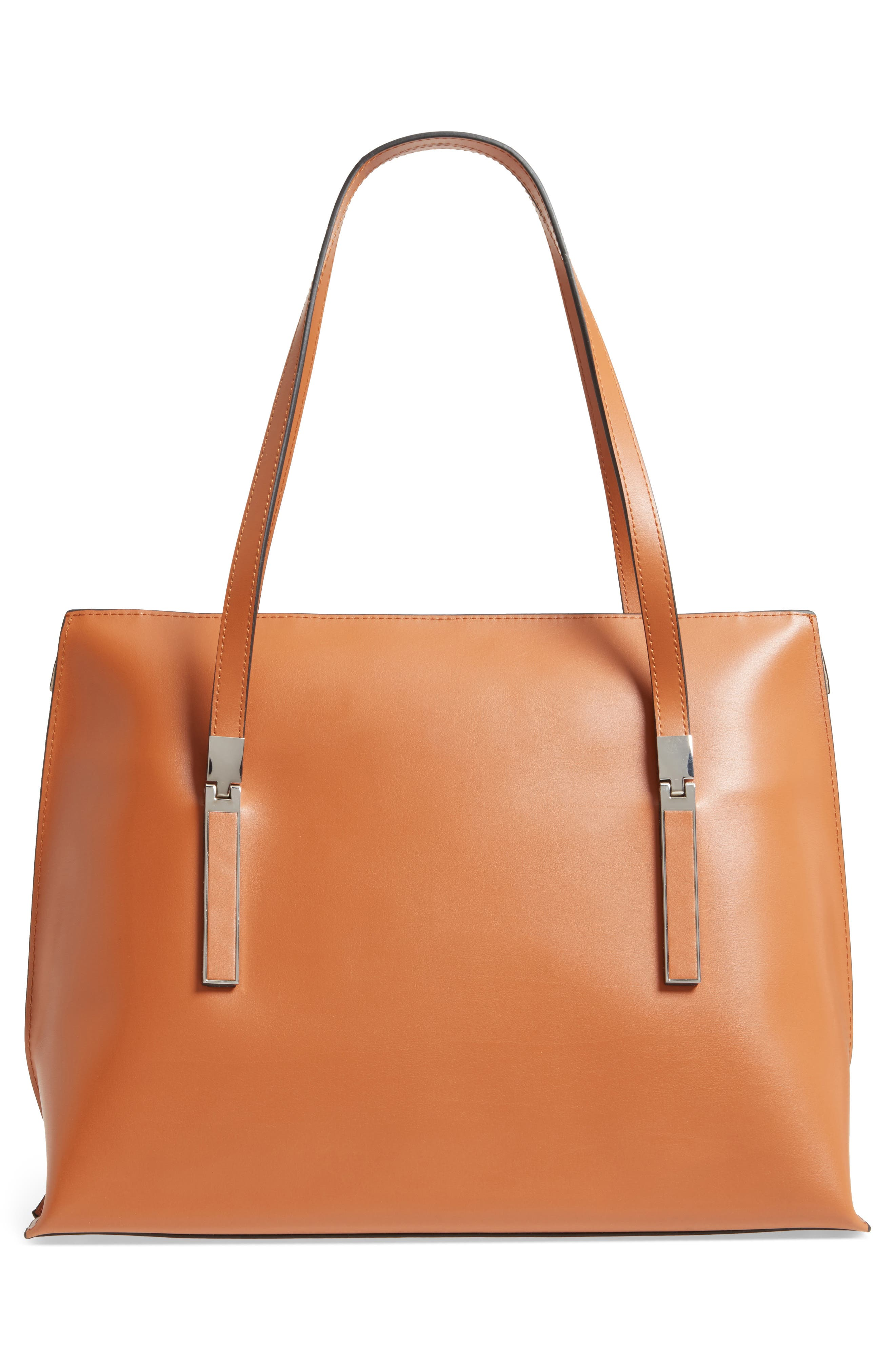 LODIS Silicon Valley - Lorrain RFID Leather Satchel,                             Alternate thumbnail 3, color,                             Toffee/ Taupe