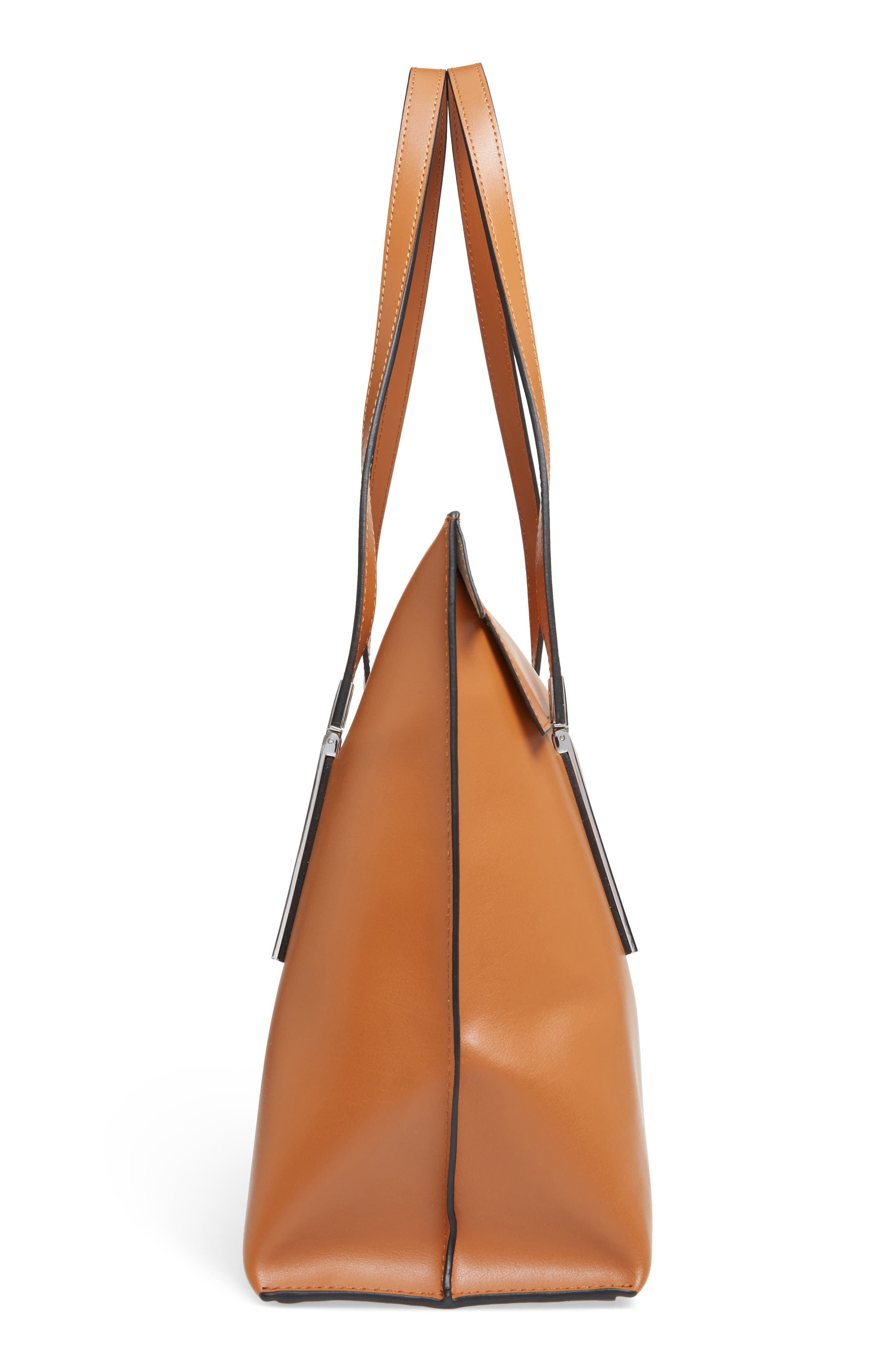 LODIS Silicon Valley - Lorrain RFID Leather Satchel,                             Alternate thumbnail 5, color,                             Toffee/ Taupe