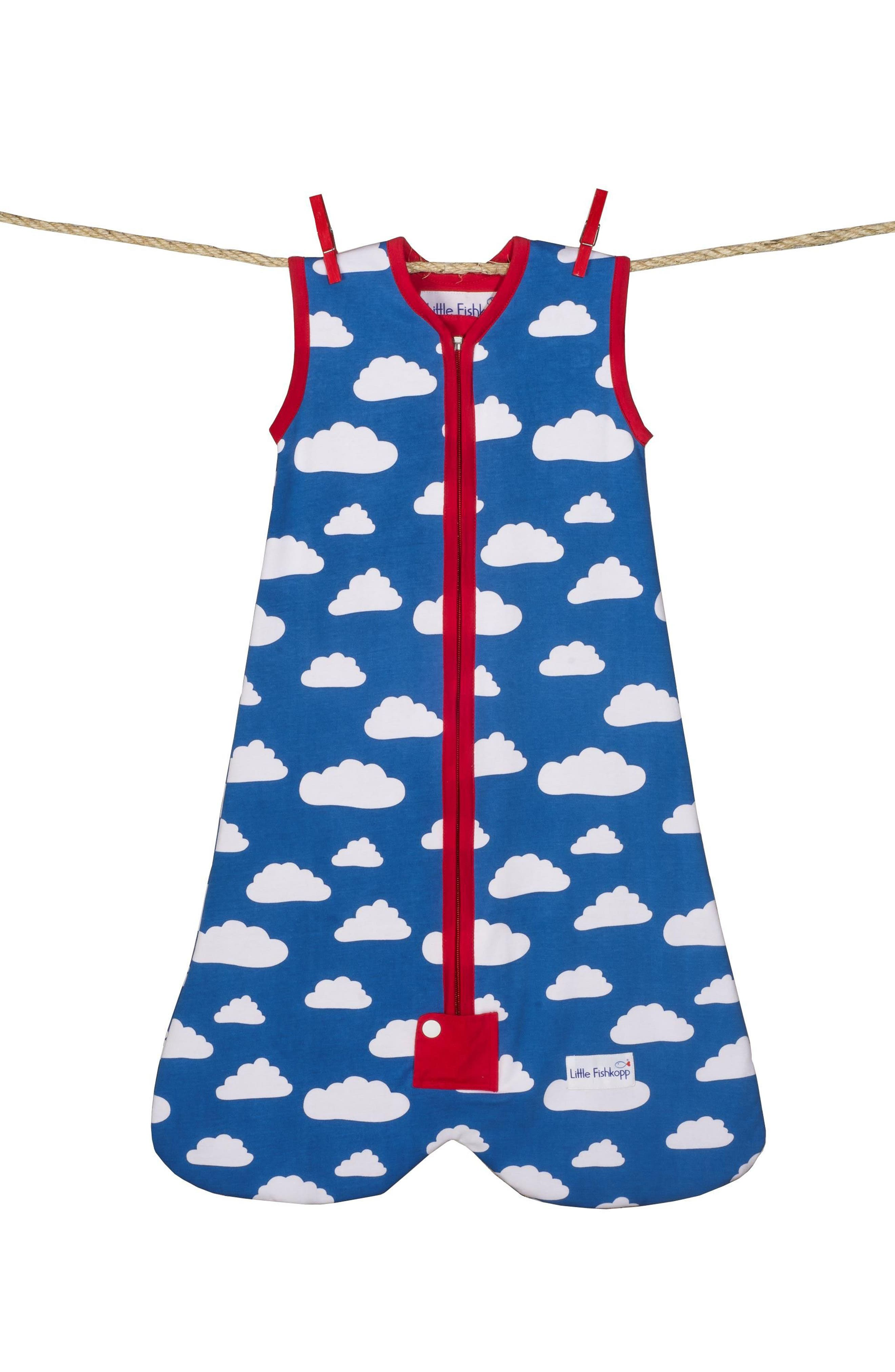 Alternate Image 1 Selected - Little Fishkopp Clouds Organic Cotton Wearable Blanket (Baby)