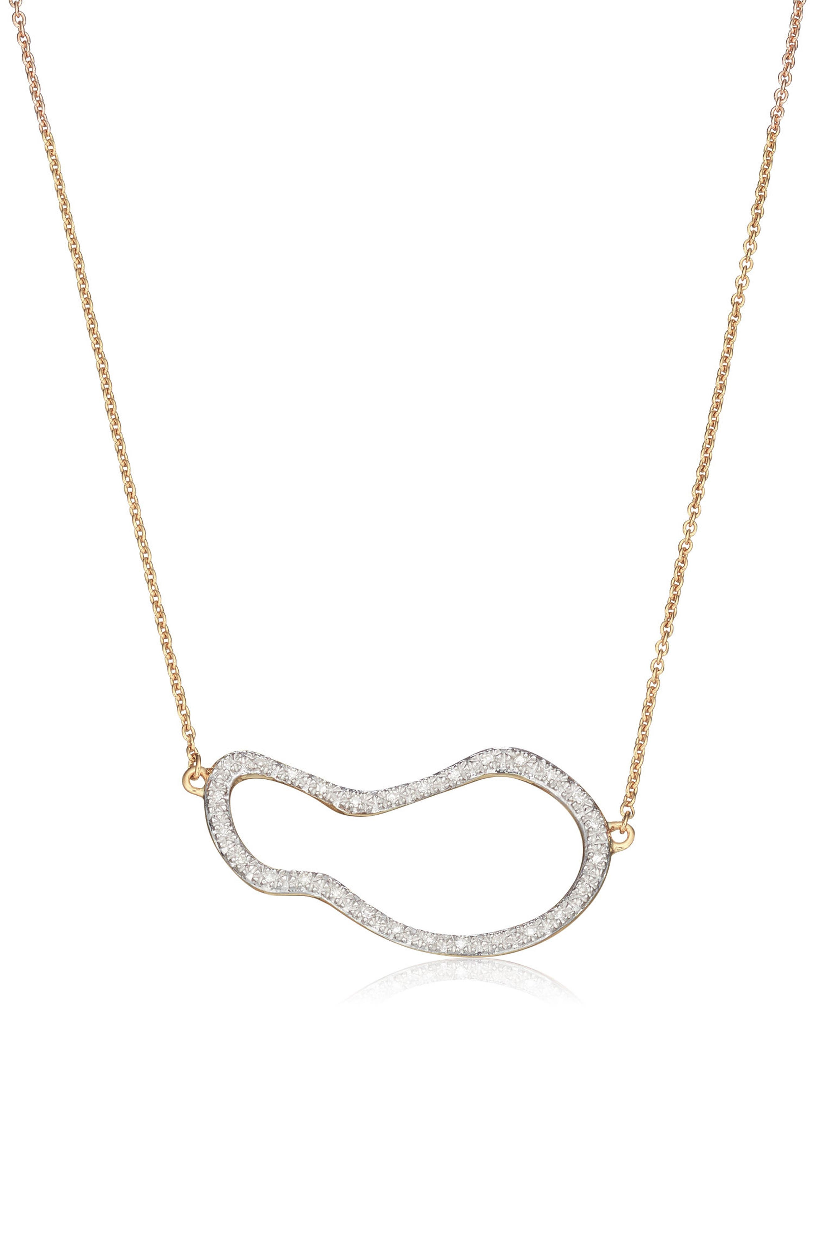 Monica Vinader Riva Pod Diamond Pendant Necklace