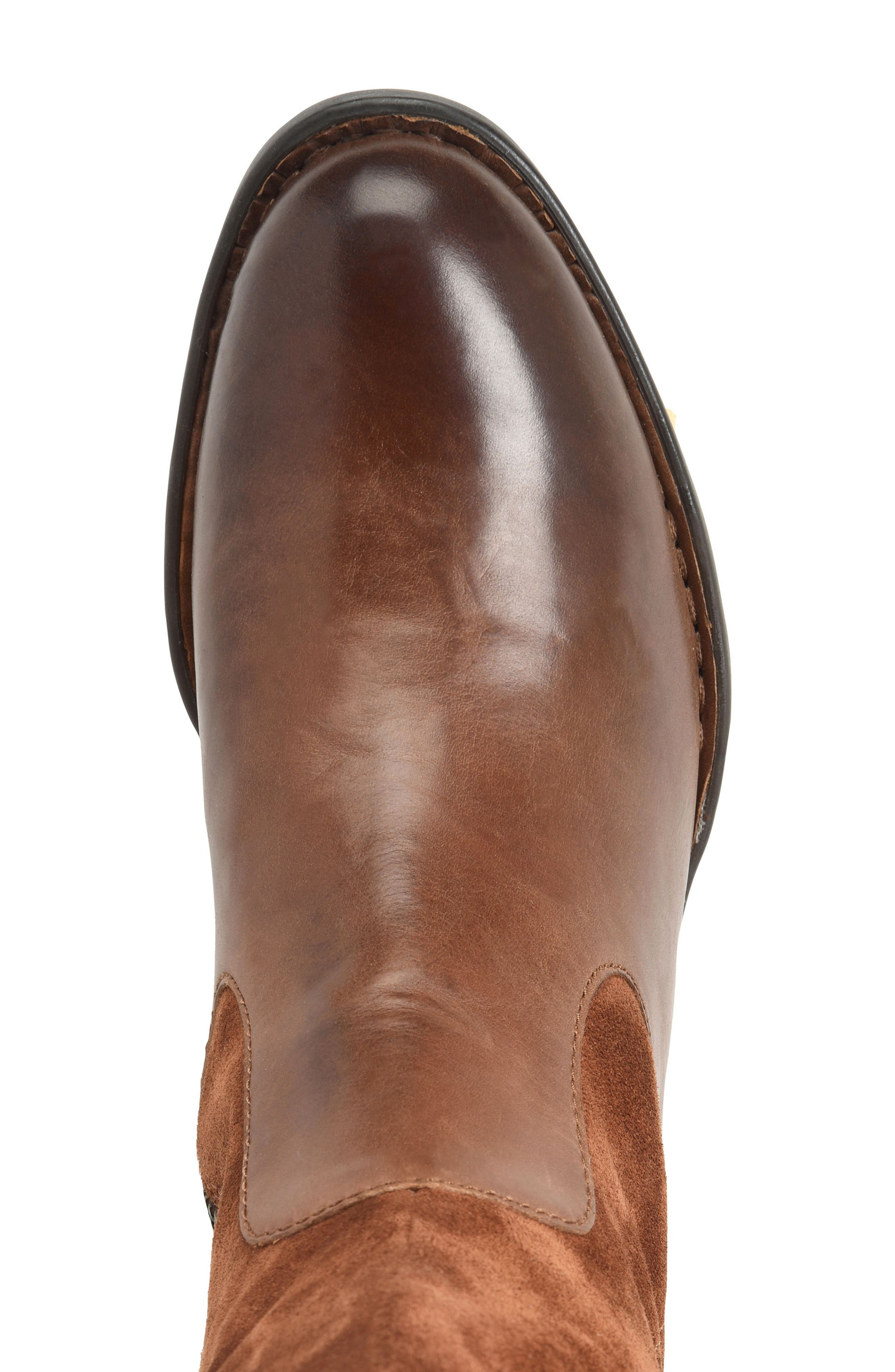 Cook Knee High Boot,                             Alternate thumbnail 5, color,                             Brown/ Rust Combo