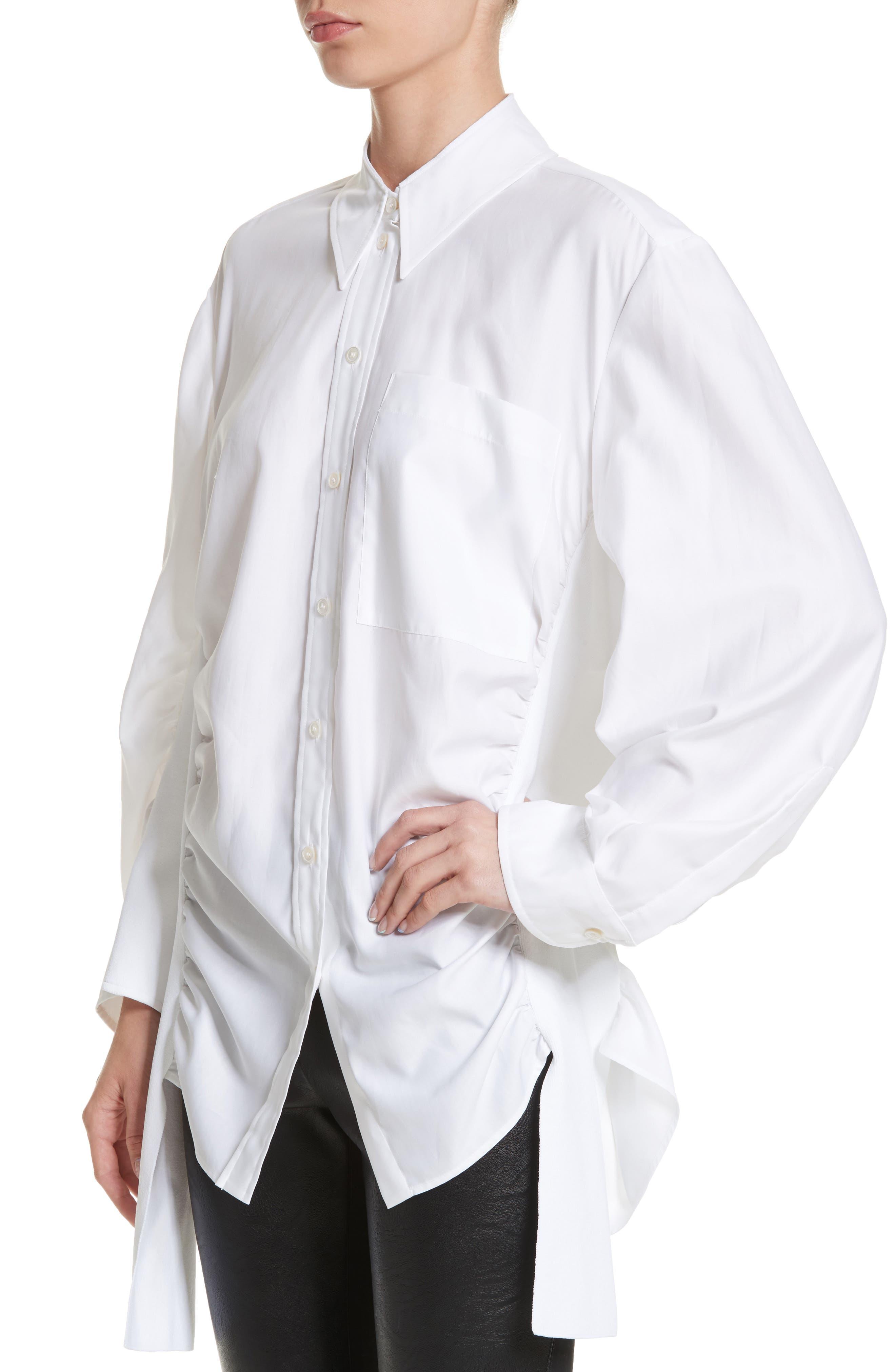 Alternate Image 4  - Stella McCartney Tape Detail Cotton Shirt