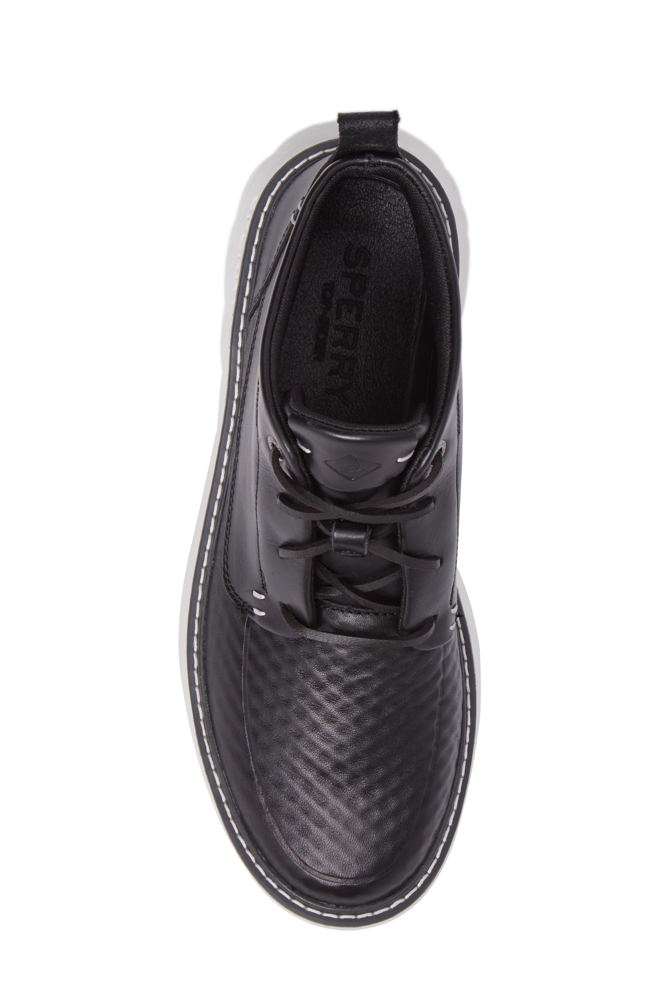 Element Chukka Boot,                             Alternate thumbnail 5, color,                             Black Leather