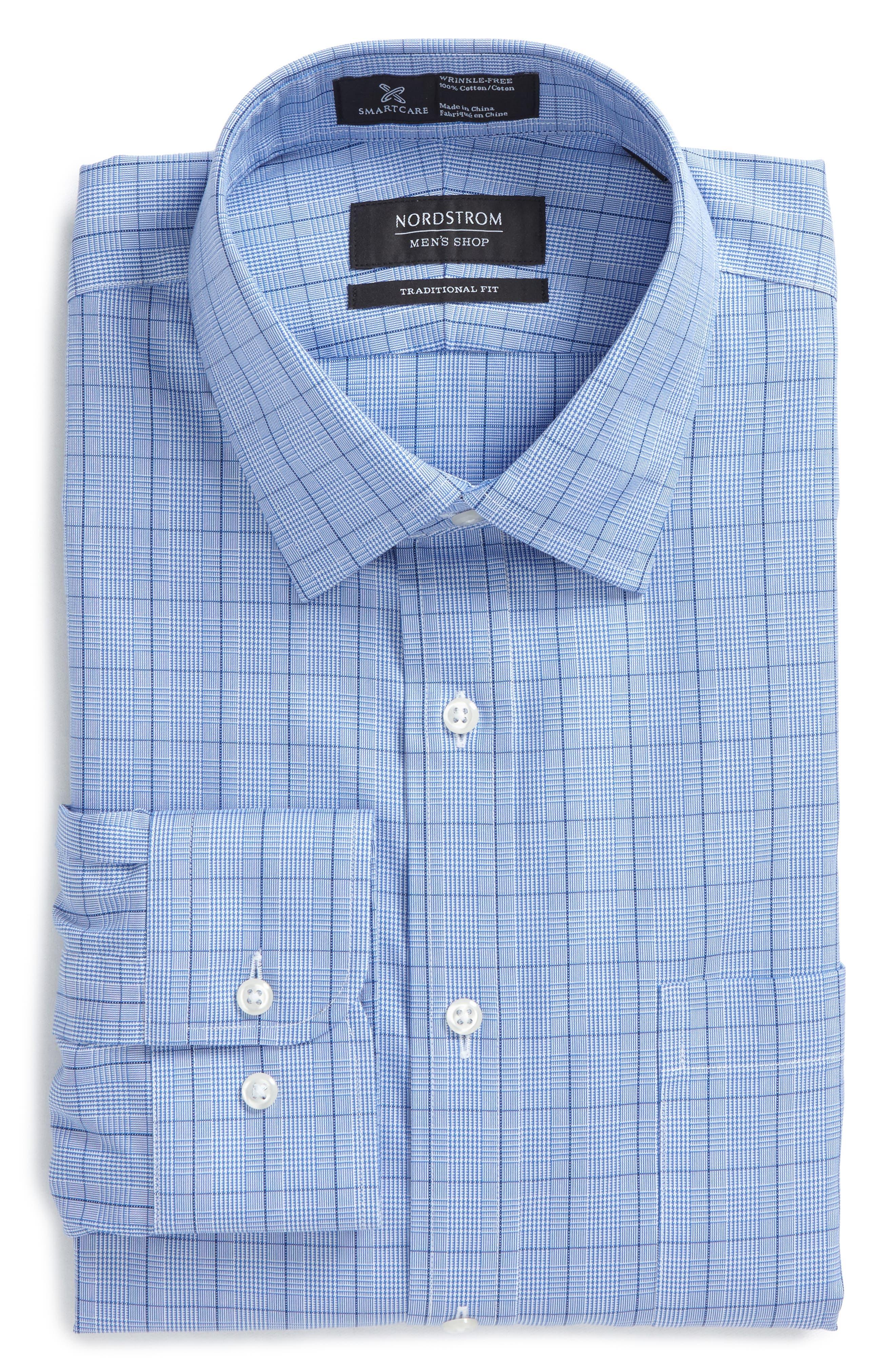 Alternate Image 2  - Nordstrom Men's Shop Smartcare™ Traditional Fit Windowpane Dress Shirt