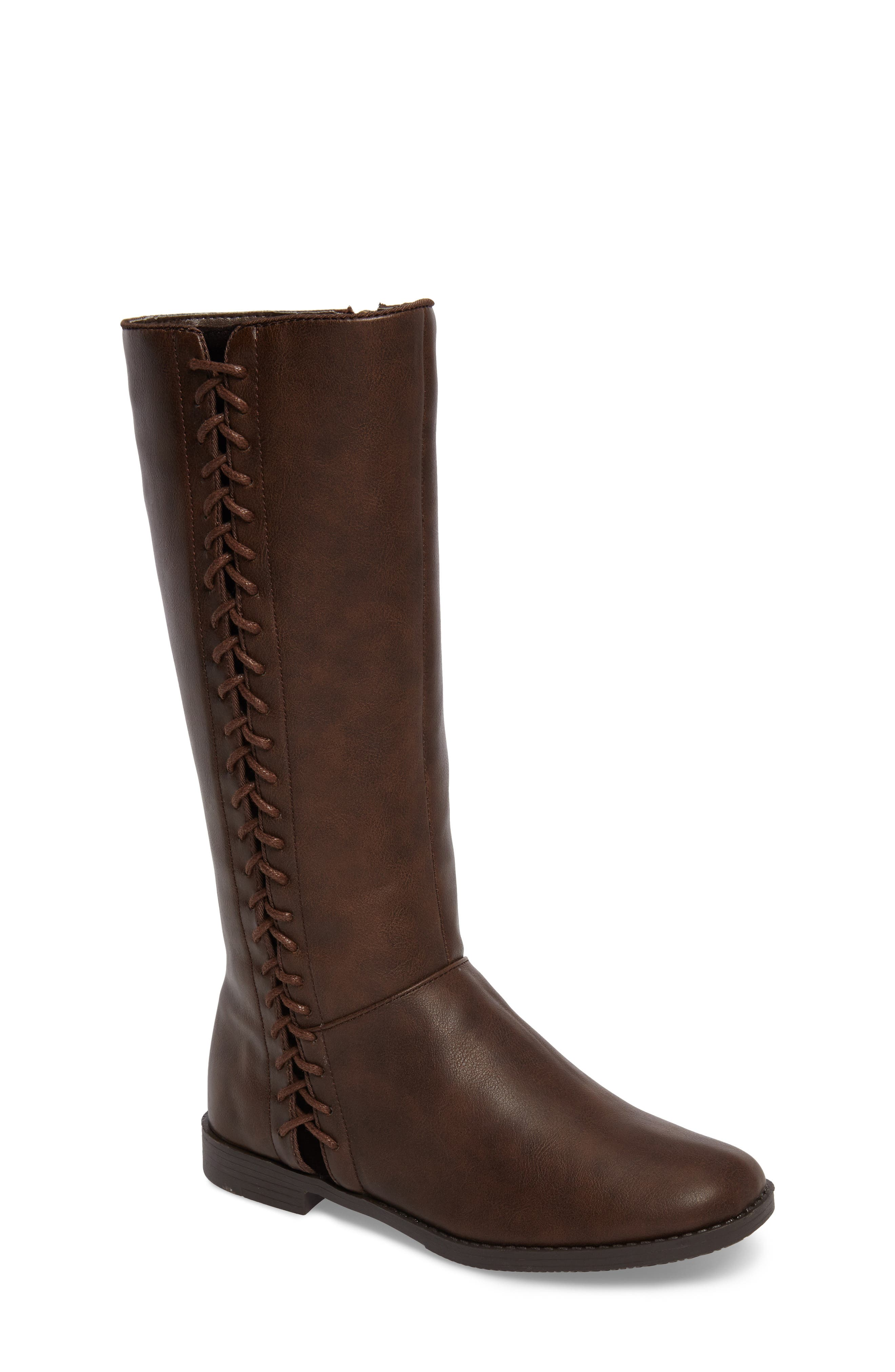 Kenneth Cole New York Kennedy Lace Riding Boot (Toddler, Little Kid & Big Kid)