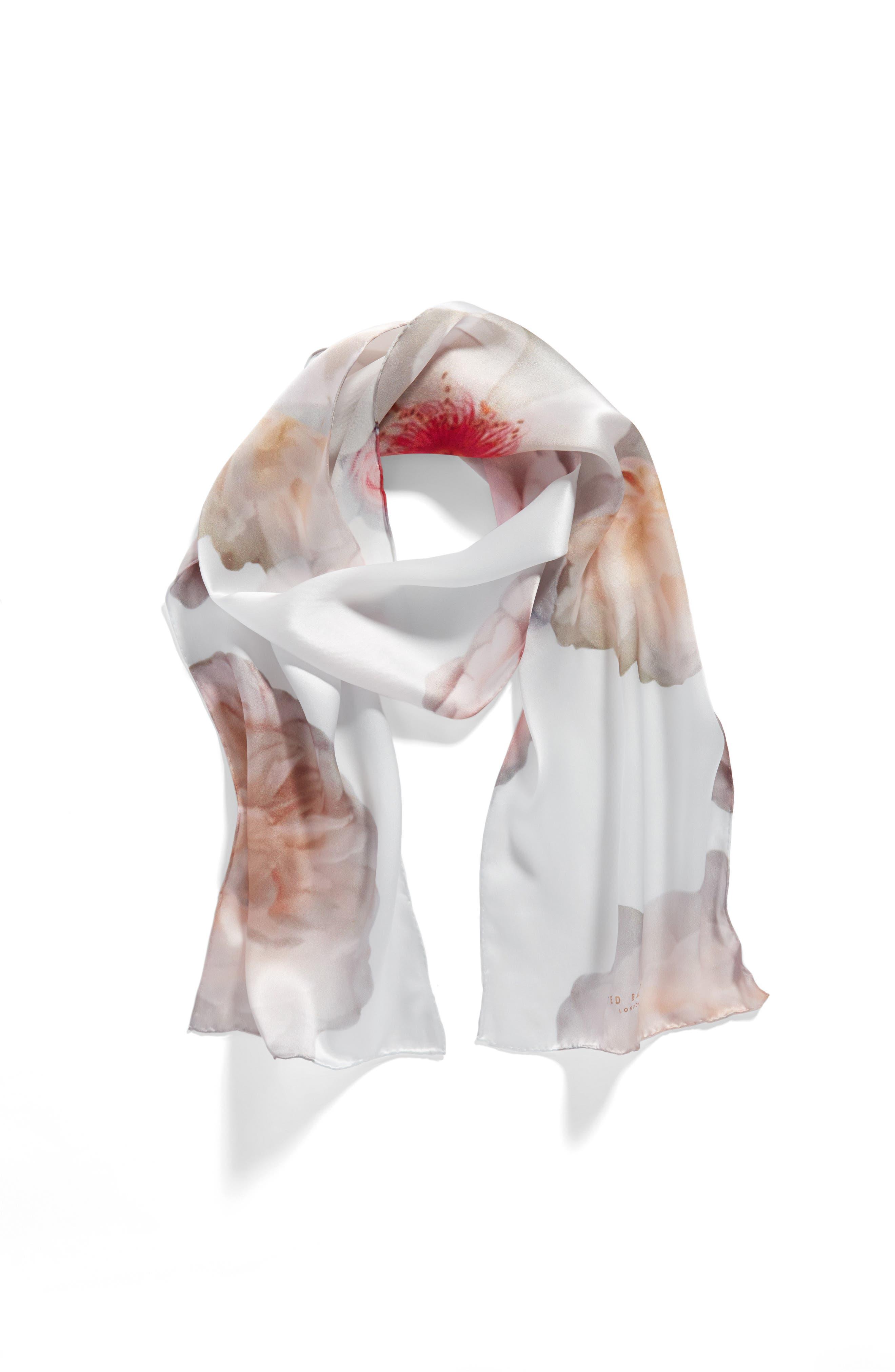 Alternate Image 3  - Ted Baker London Chelsea Silk Skinny Scarf