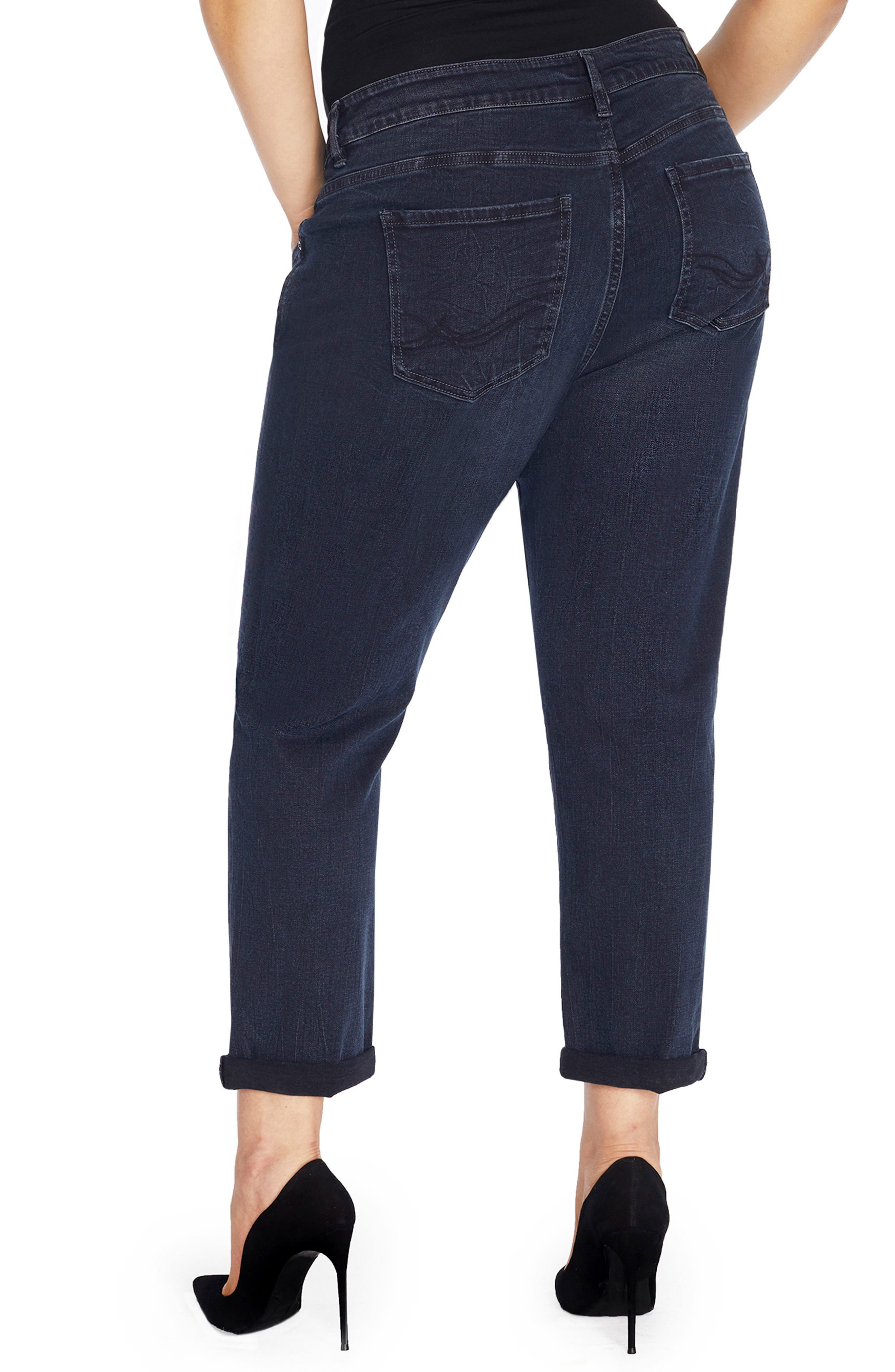 Alternate Image 2  - REBEL WILSON X ANGELS The Ryot Slim Boyfriend Jeans (Plus Size)