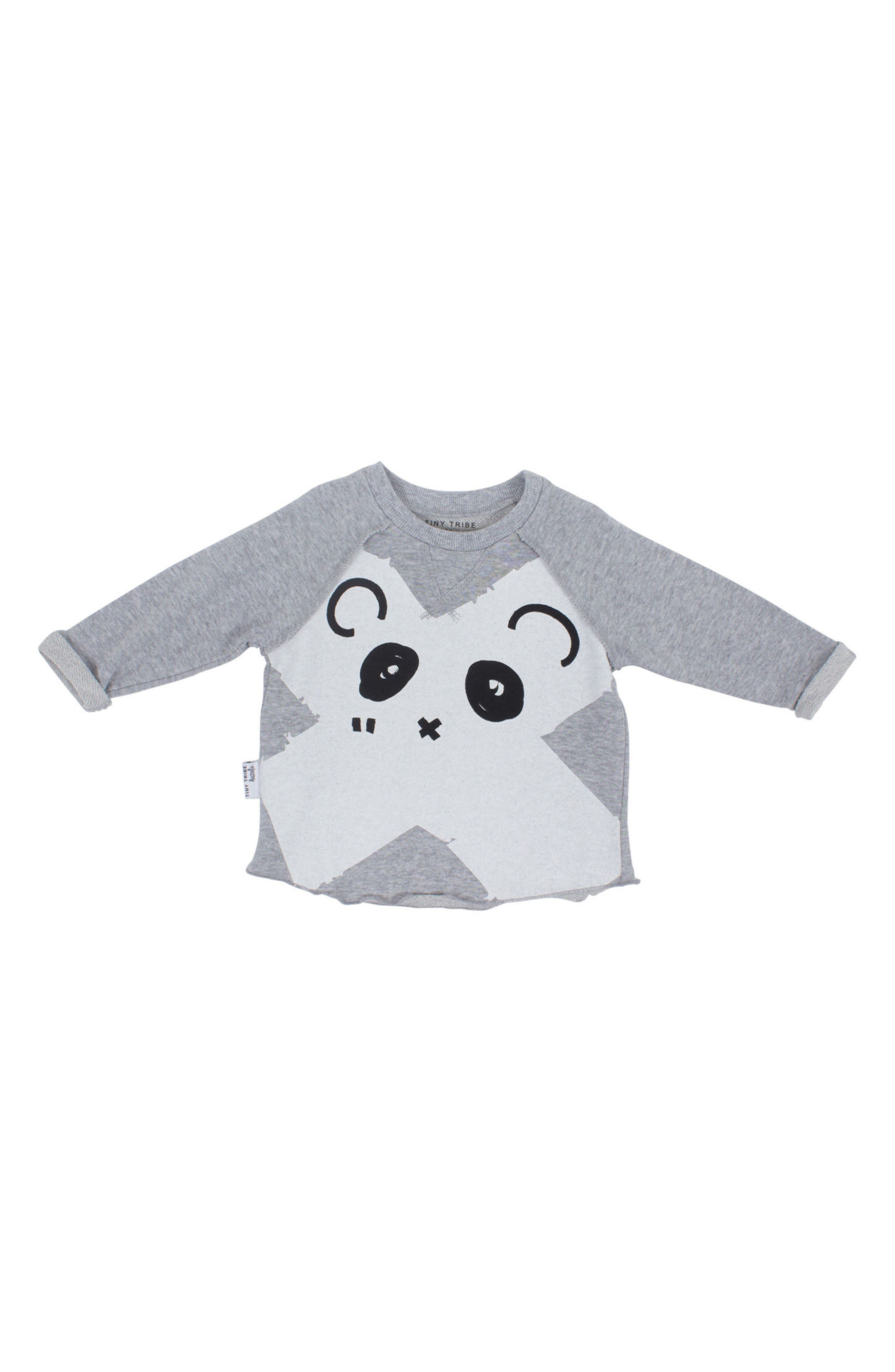Panda Sweatshirt & Leggings Set,                             Alternate thumbnail 3, color,                             Grey And Black