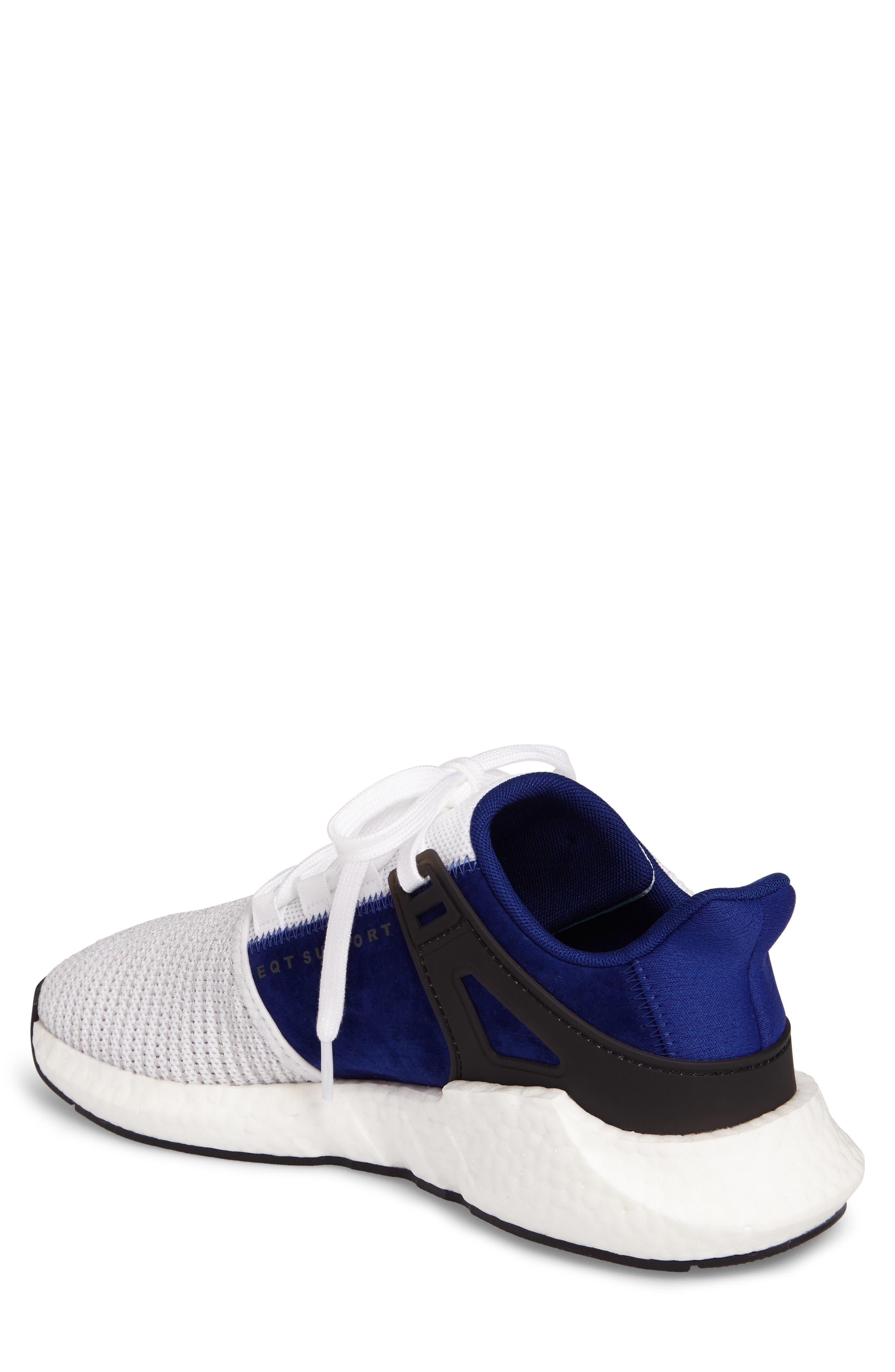 EQT Support 93/17 Sneaker,                             Alternate thumbnail 2, color,                             White/ White/ Core Black