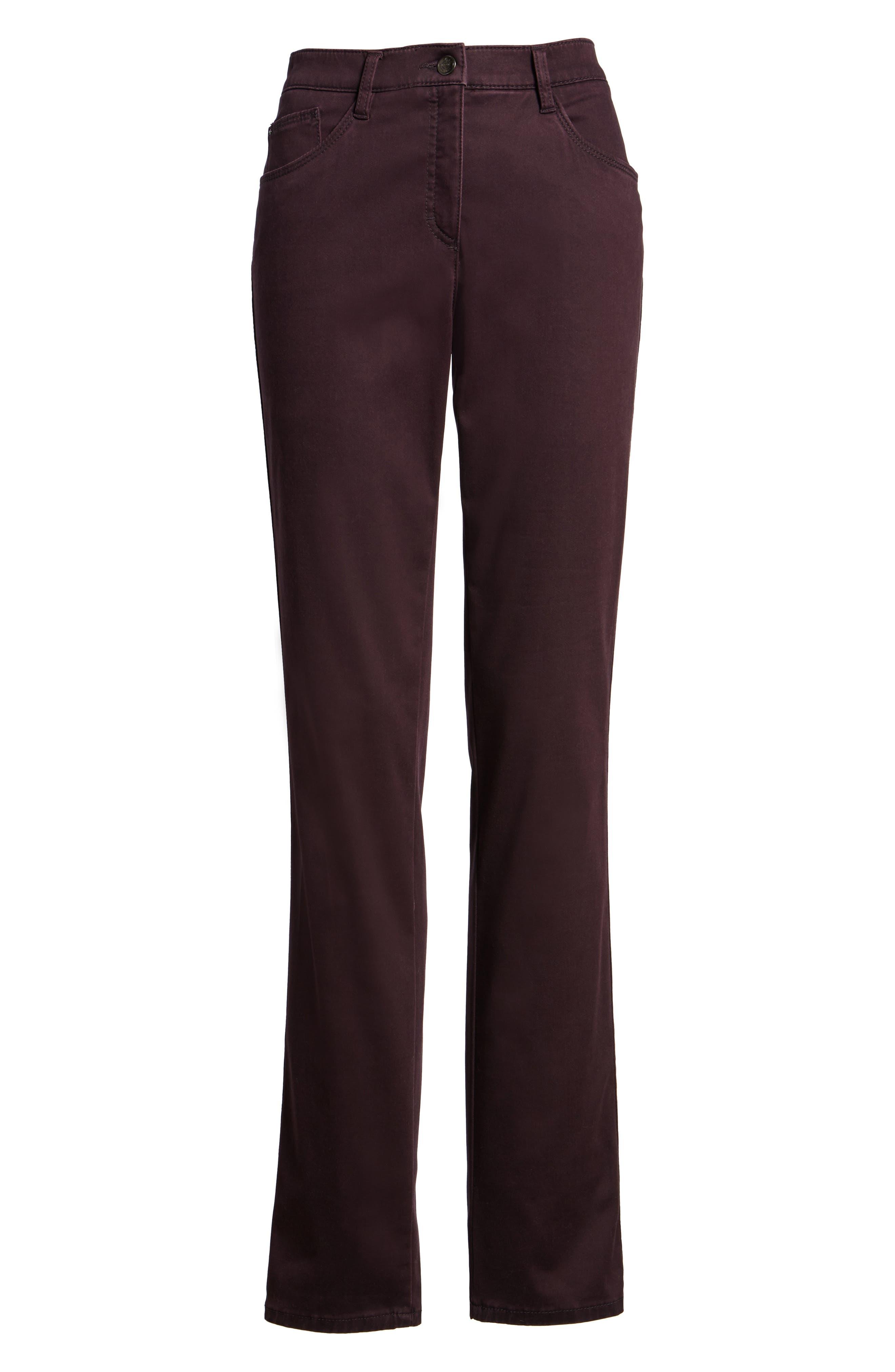 Straight Leg Pants,                             Alternate thumbnail 6, color,                             Amarone