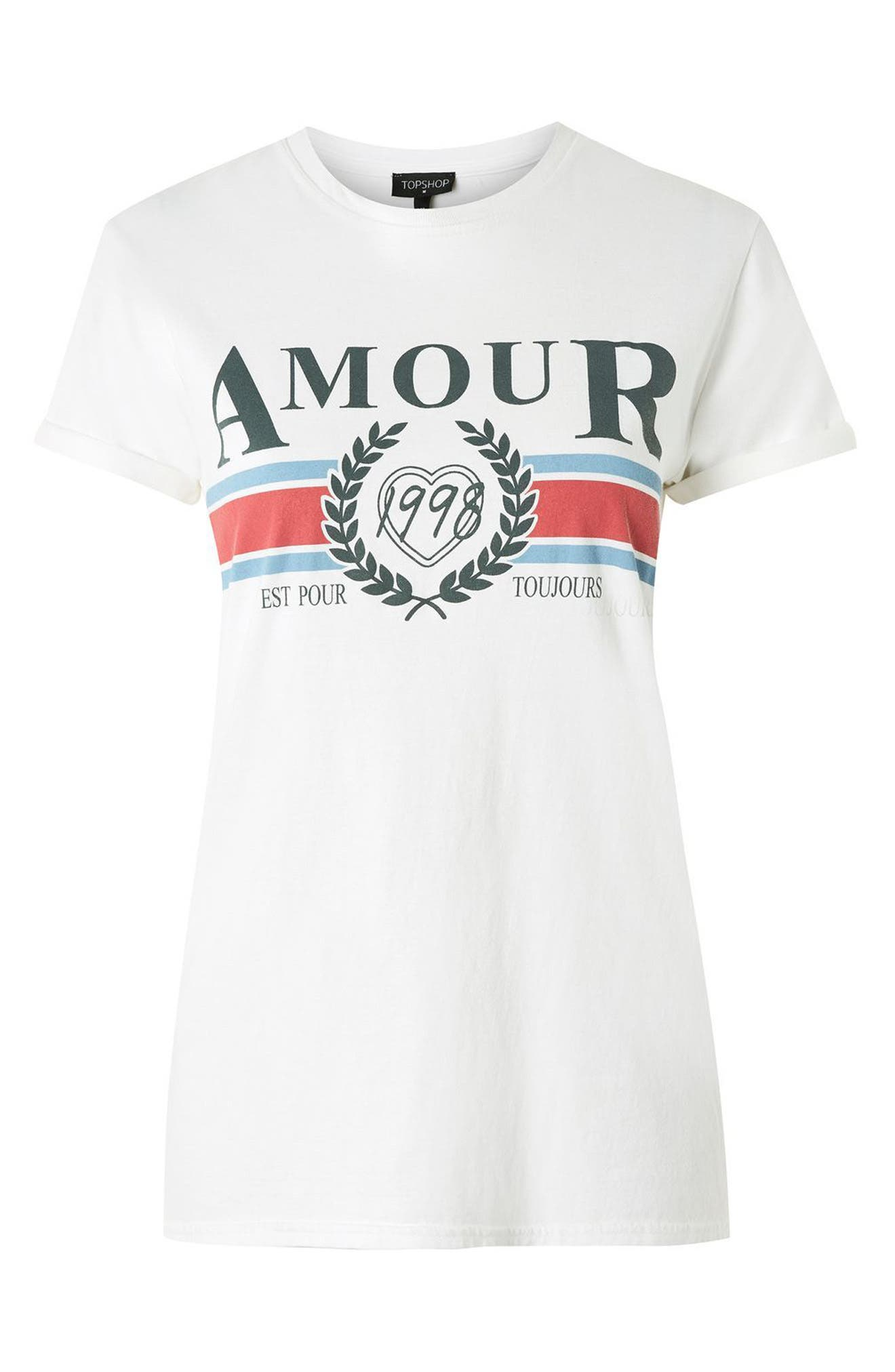 Alternate Image 4  - Topshop Amour Graphic Tee