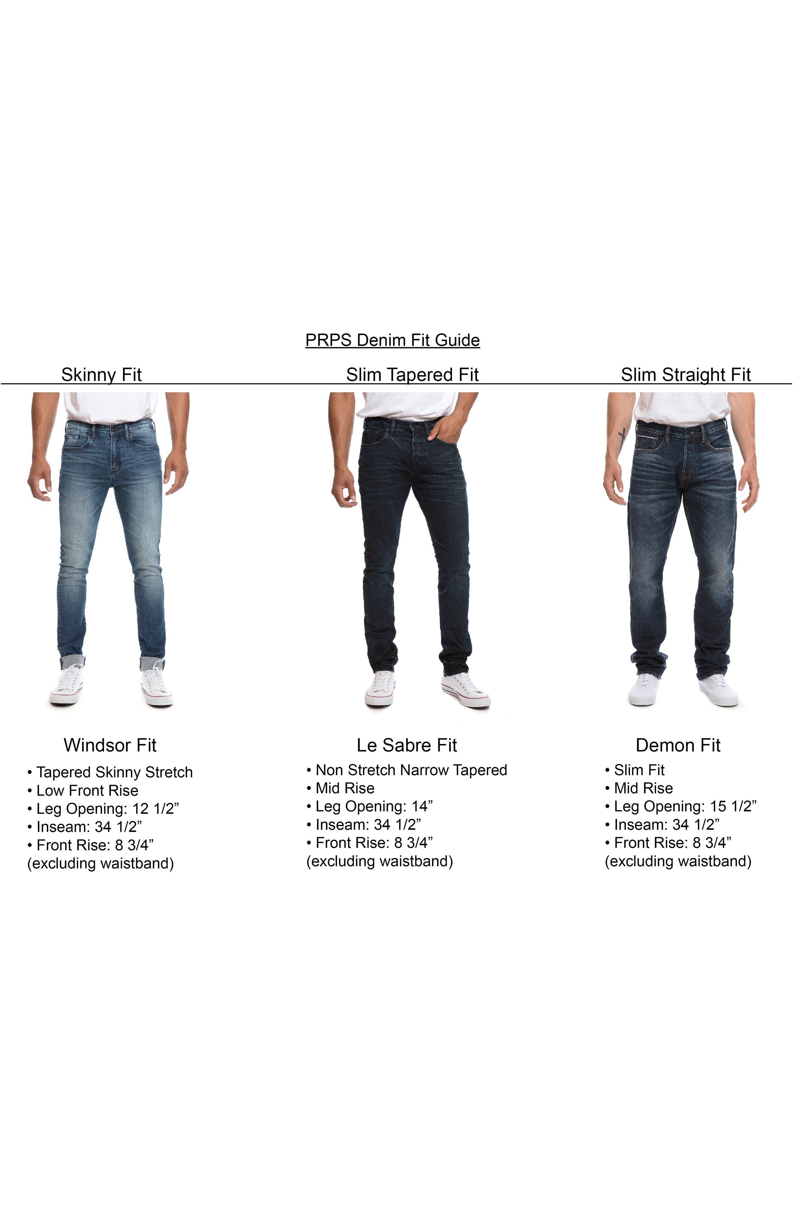 Alternate Image 5  - PRPS 'Demon' Slim Straight Leg Selvedge Jeans (6 Month)