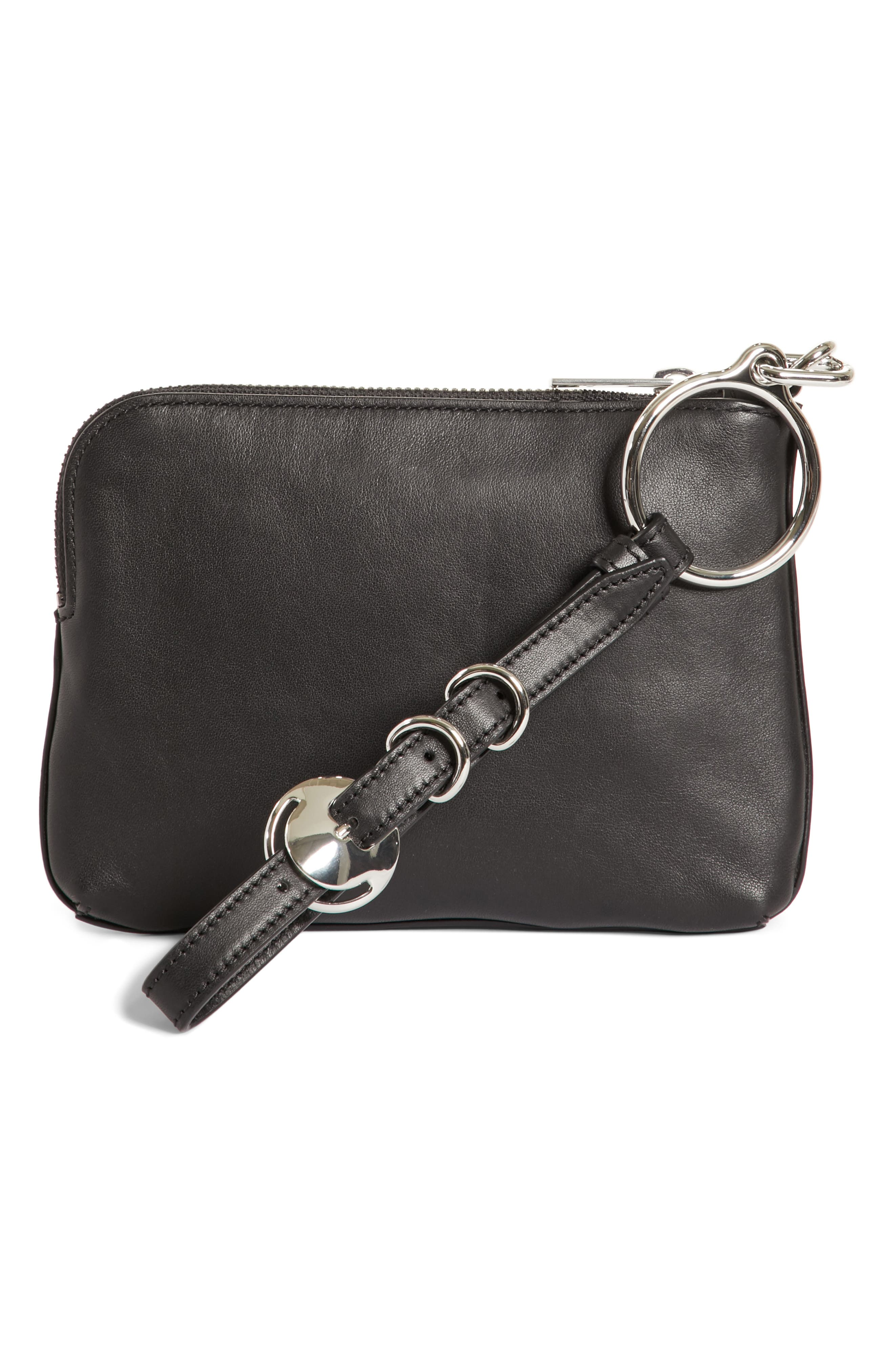 Alternate Image 4  - Alexander Wang Small Ace Nappa Leather Wristlet