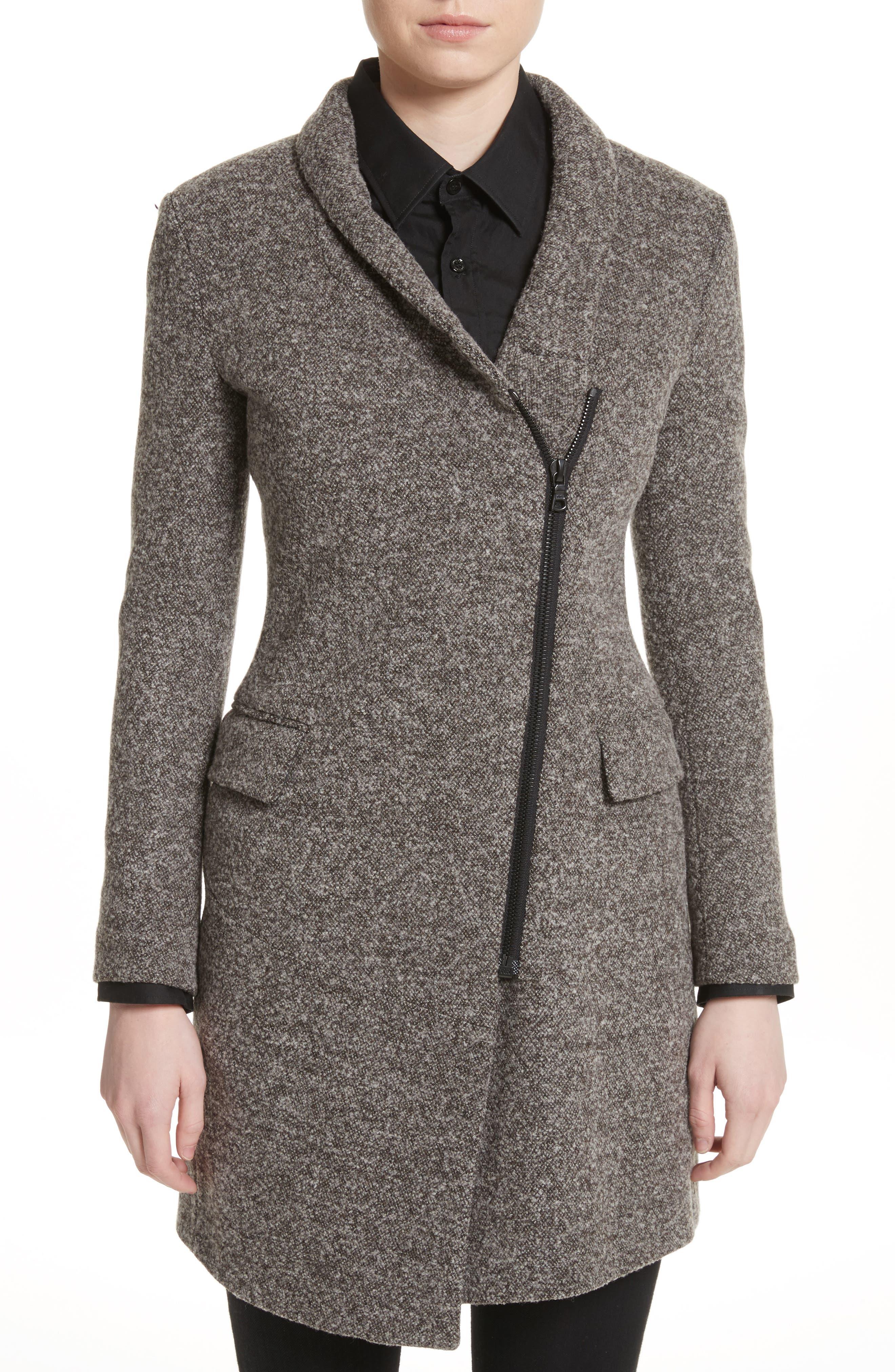 Jersey Galaxy Tweed Jacket,                             Main thumbnail 1, color,                             Grey