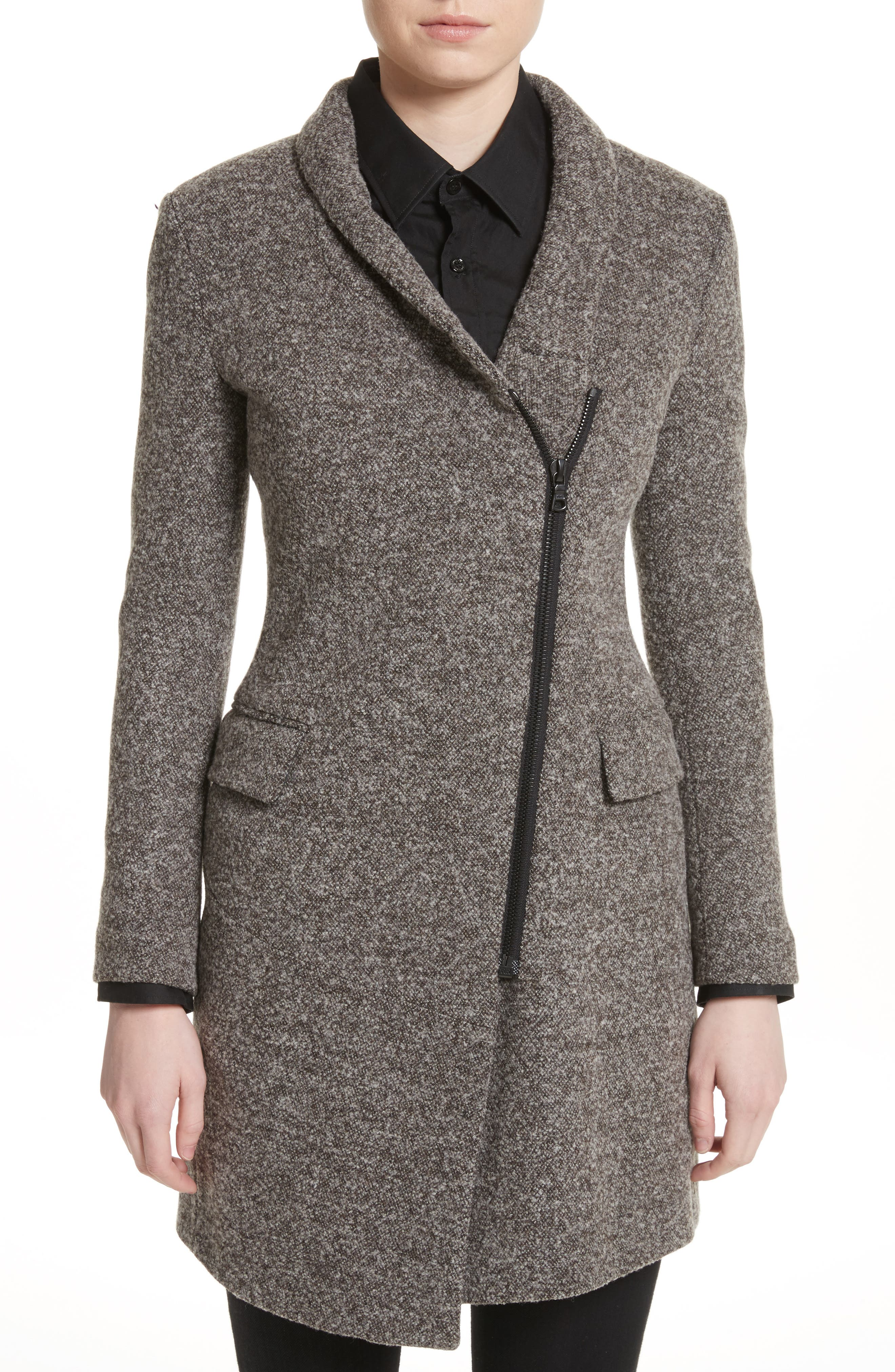 Jersey Galaxy Tweed Jacket,                         Main,                         color, Grey