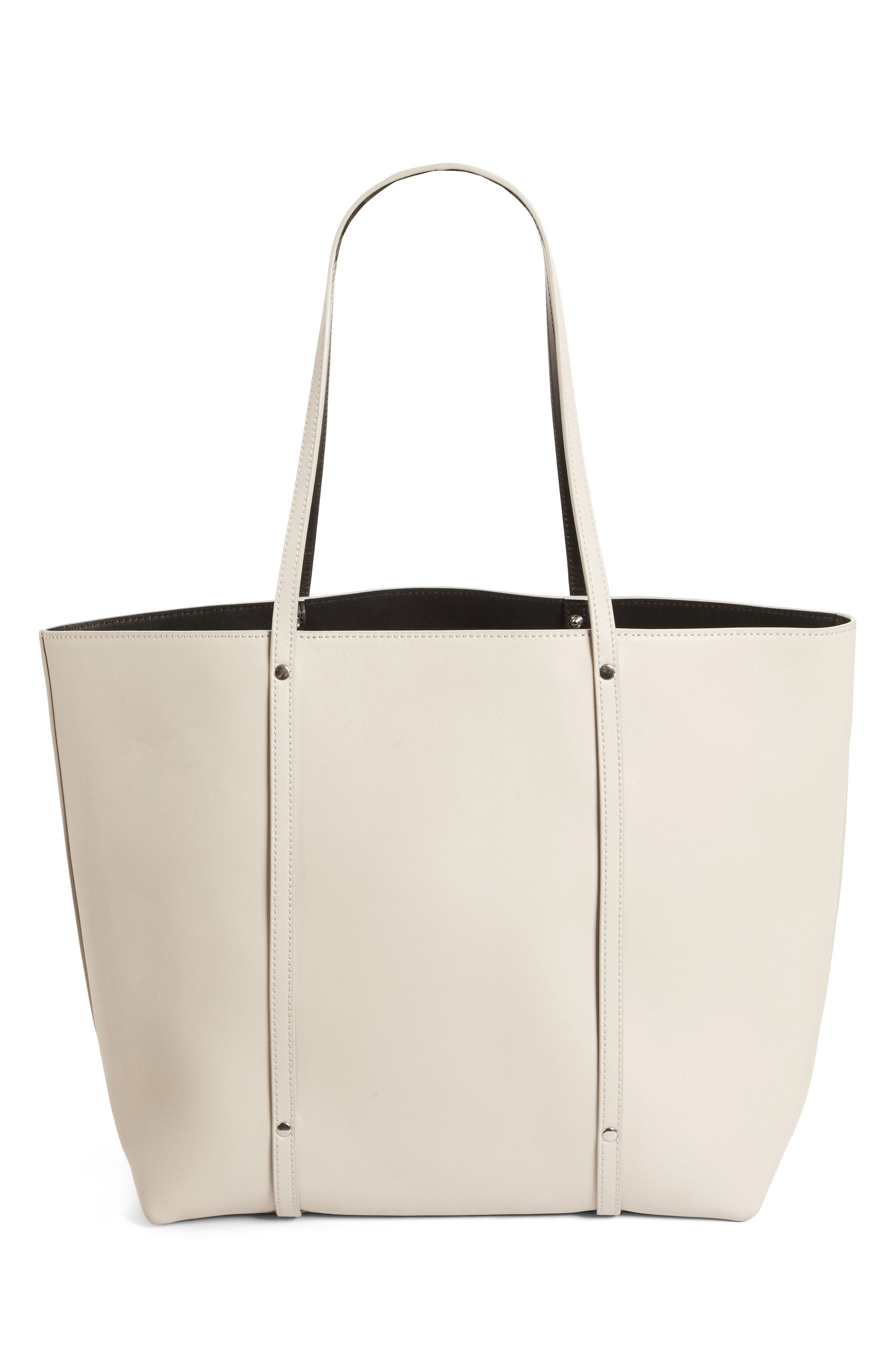 Ace Leather Tote,                         Main,                         color, Smoke