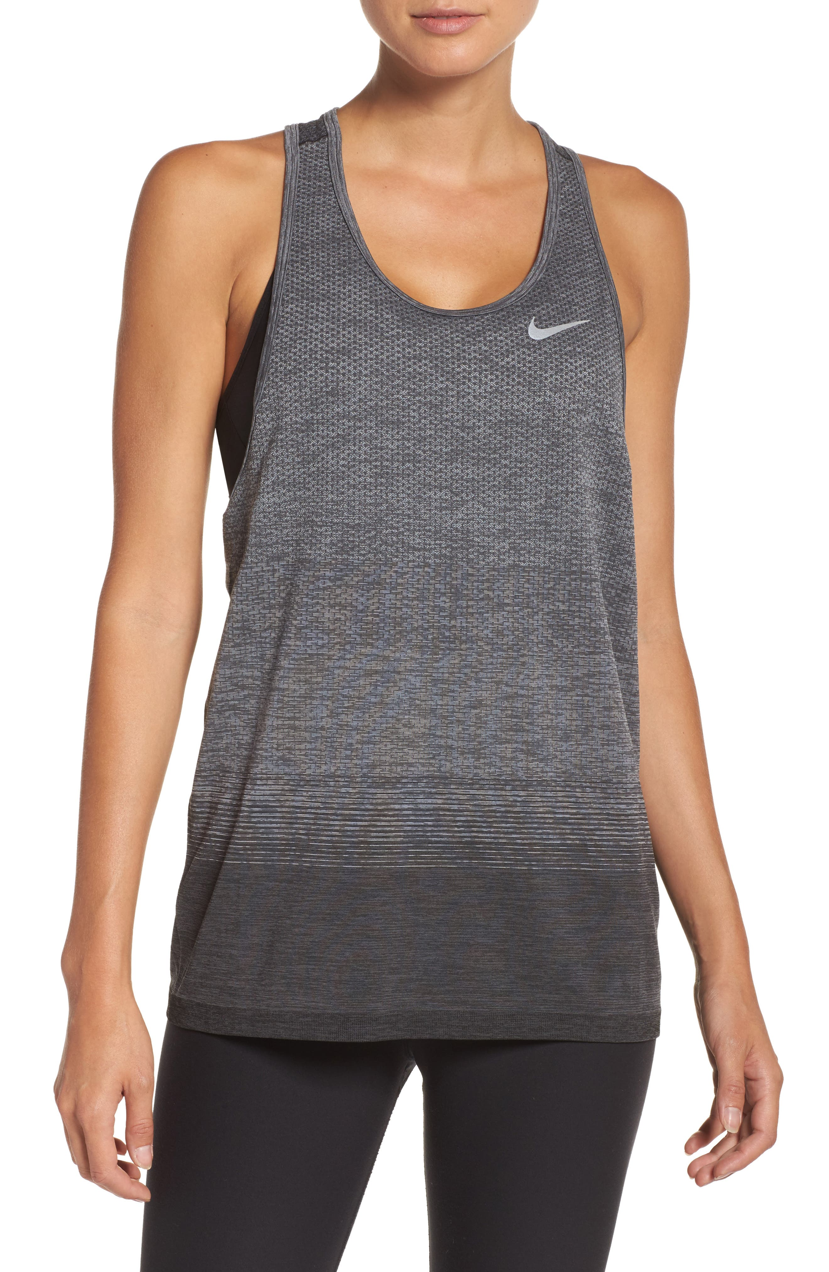 Dry-FIT Knit Tank,                         Main,                         color, Anthracite/ Wolf Grey/ Grey
