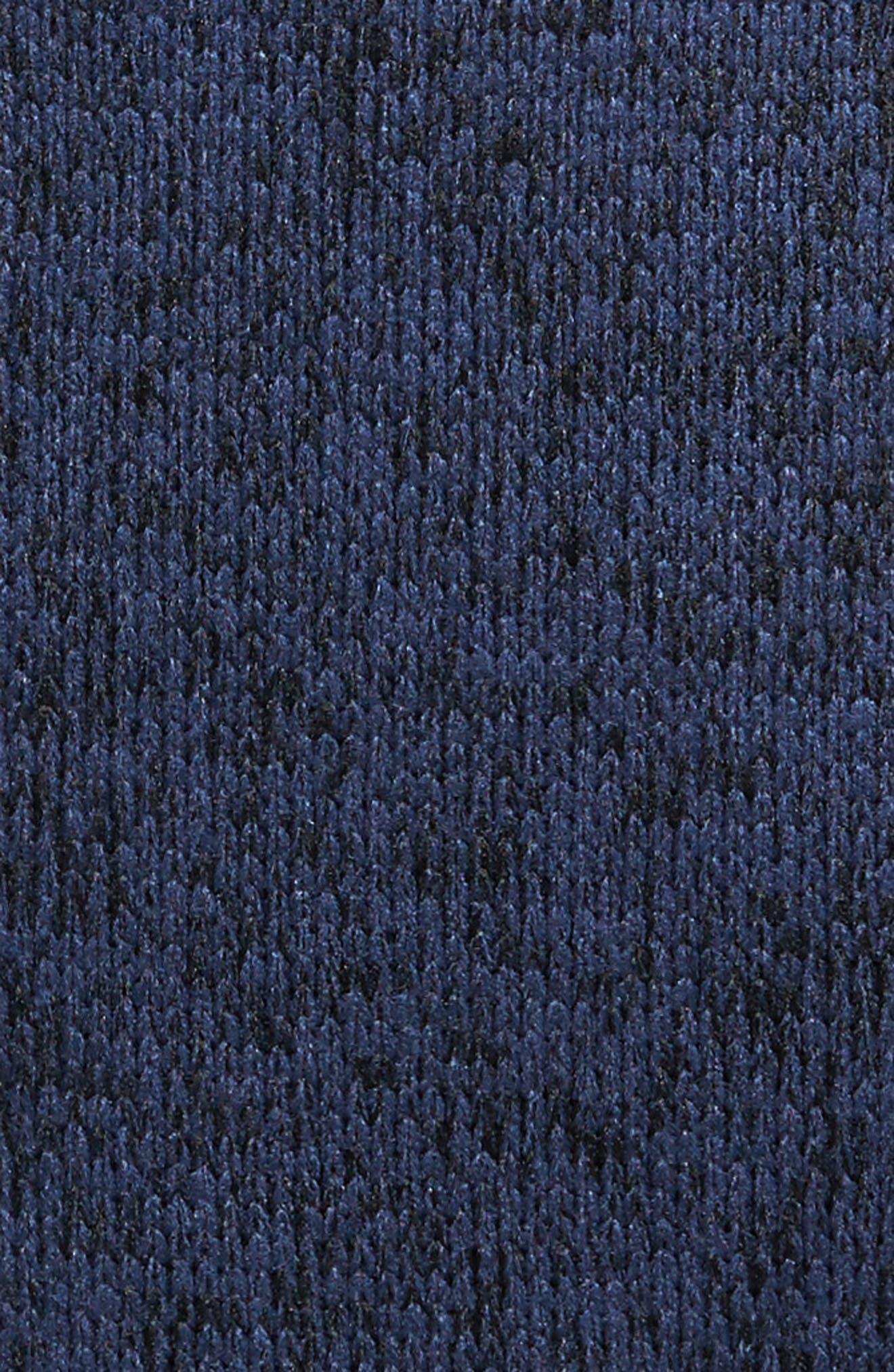 The Rail Zip Front Sweater Hoodie,                             Alternate thumbnail 5, color,                             Blue Estate/ Black Marl