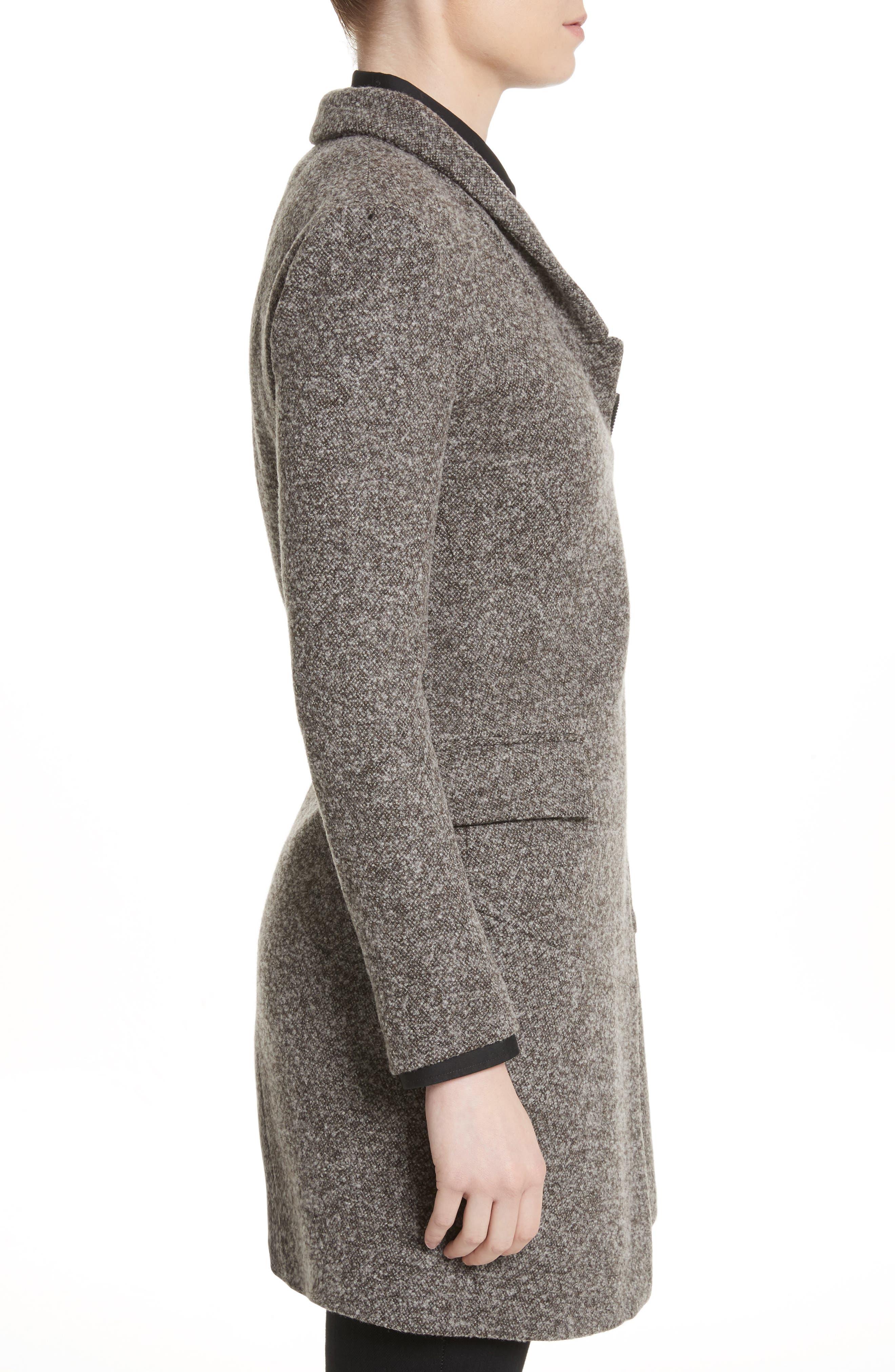 Jersey Galaxy Tweed Jacket,                             Alternate thumbnail 3, color,                             Grey
