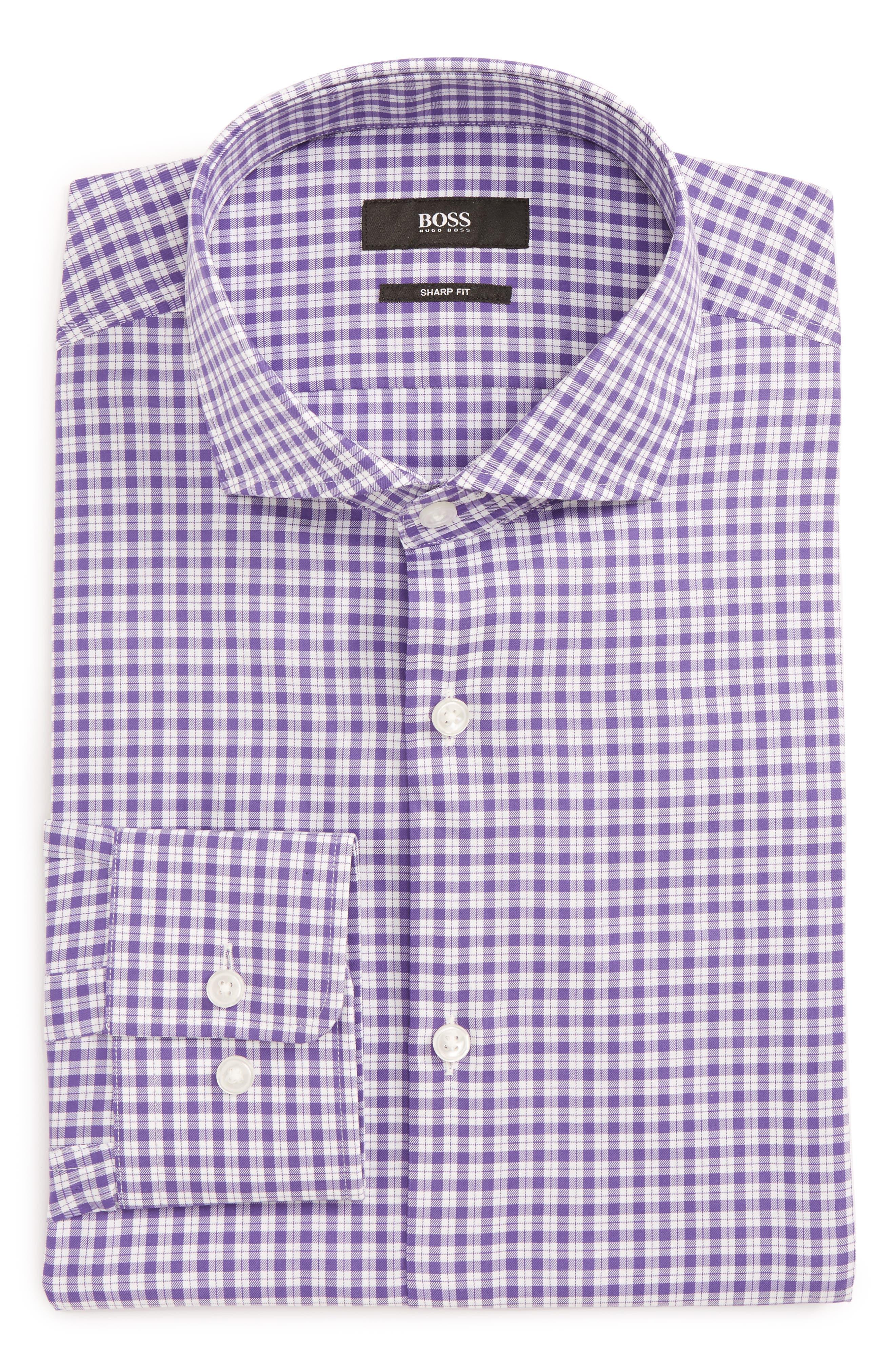 Main Image - BOSS Mark Sharp Fit Check Dress Shirt