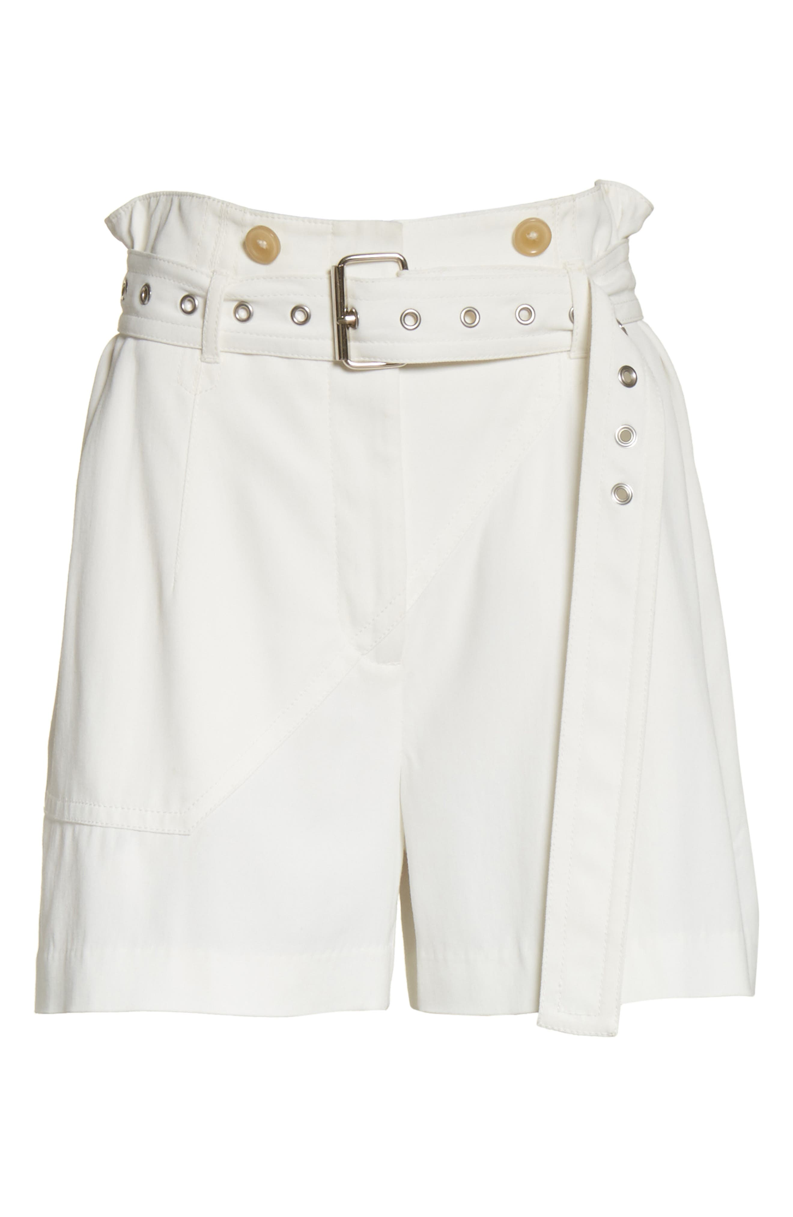 Belted Utility Shorts,                             Alternate thumbnail 6, color,                             Ivory