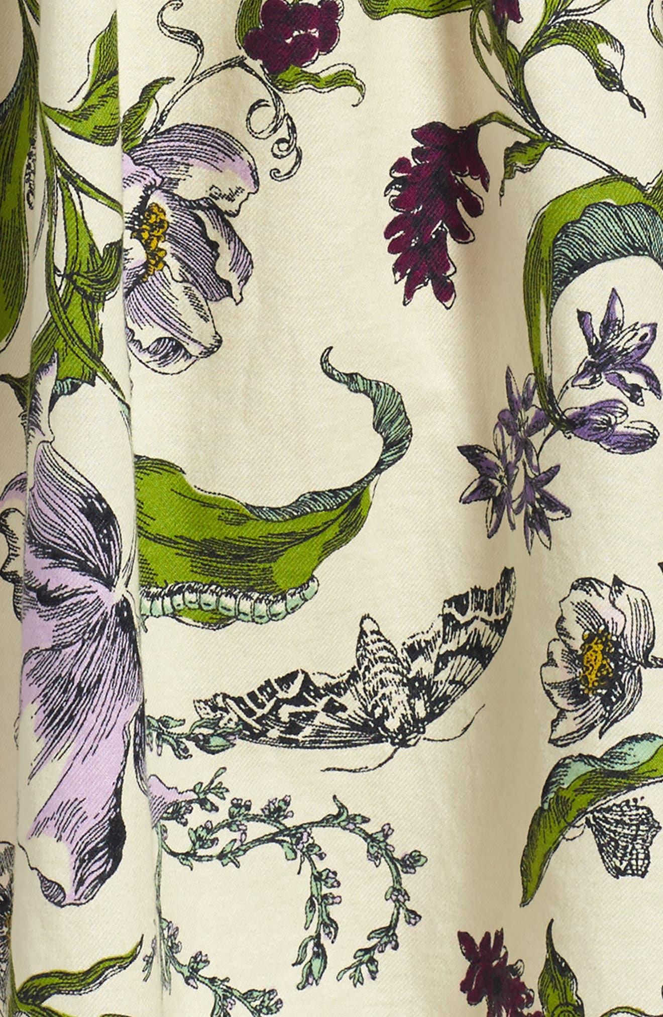 Wallpaper Party Dress,                             Alternate thumbnail 3, color,                             Cream